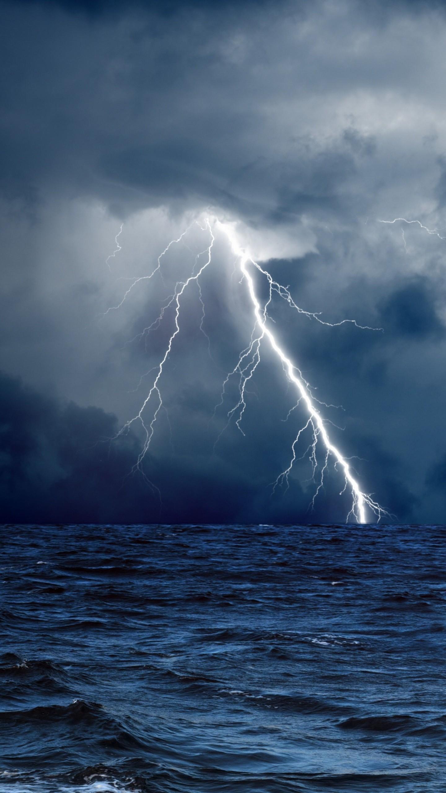 Wallpaper Sea 5k 4k Wallpaper 8k Ocean Storm Lightning