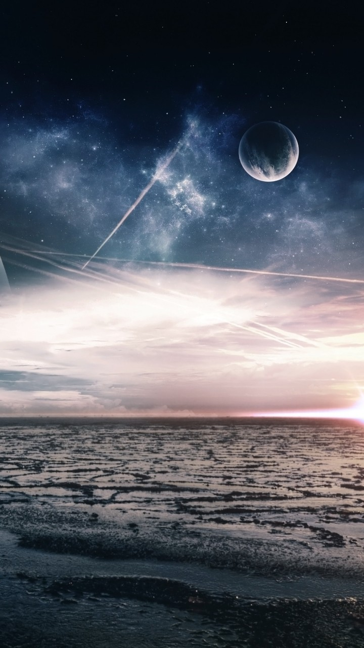 Wallpaper Sea 5k 4k Wallpaper Ocean Night Moon Clouds Planet Nature 5533