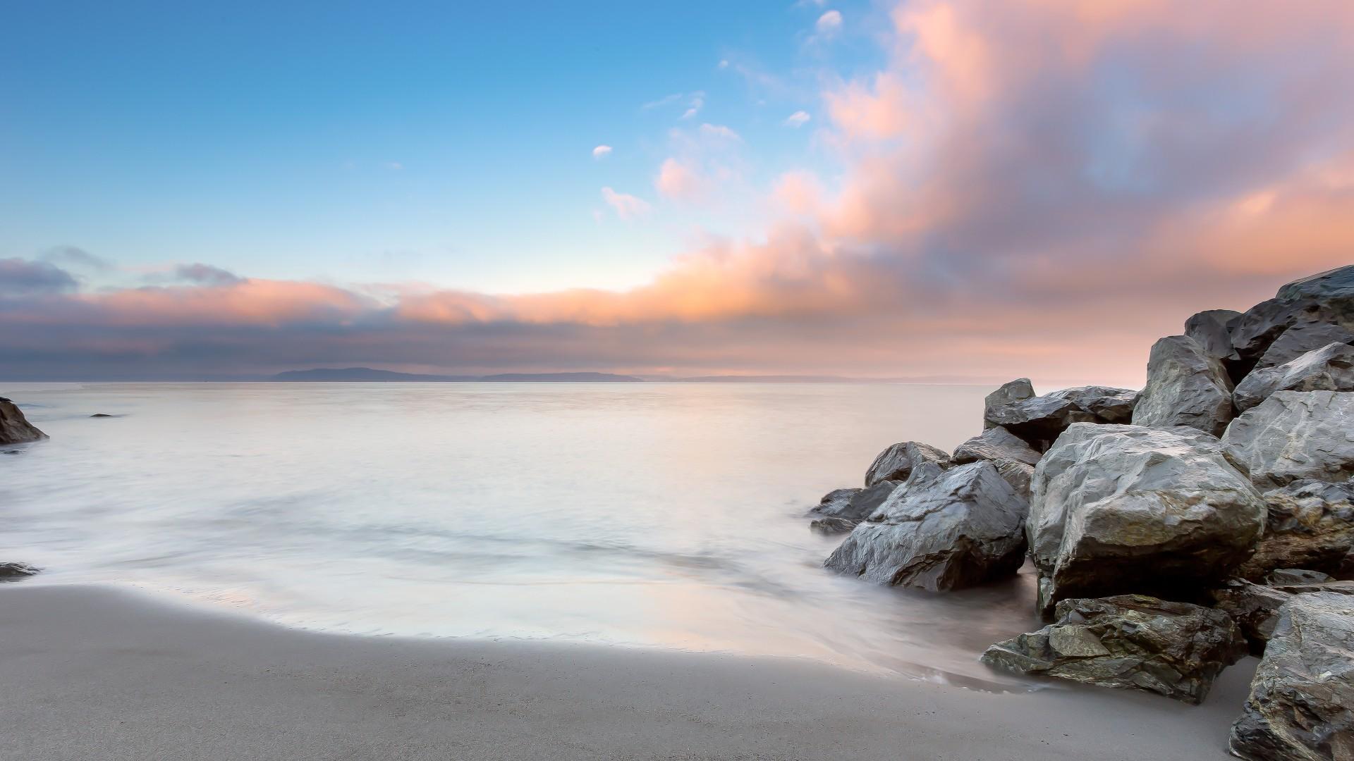 Wallpaper Seattle 4k Hd Wallpaper Alki Beach Sunset Sunrise Sea Ocean Water Morning