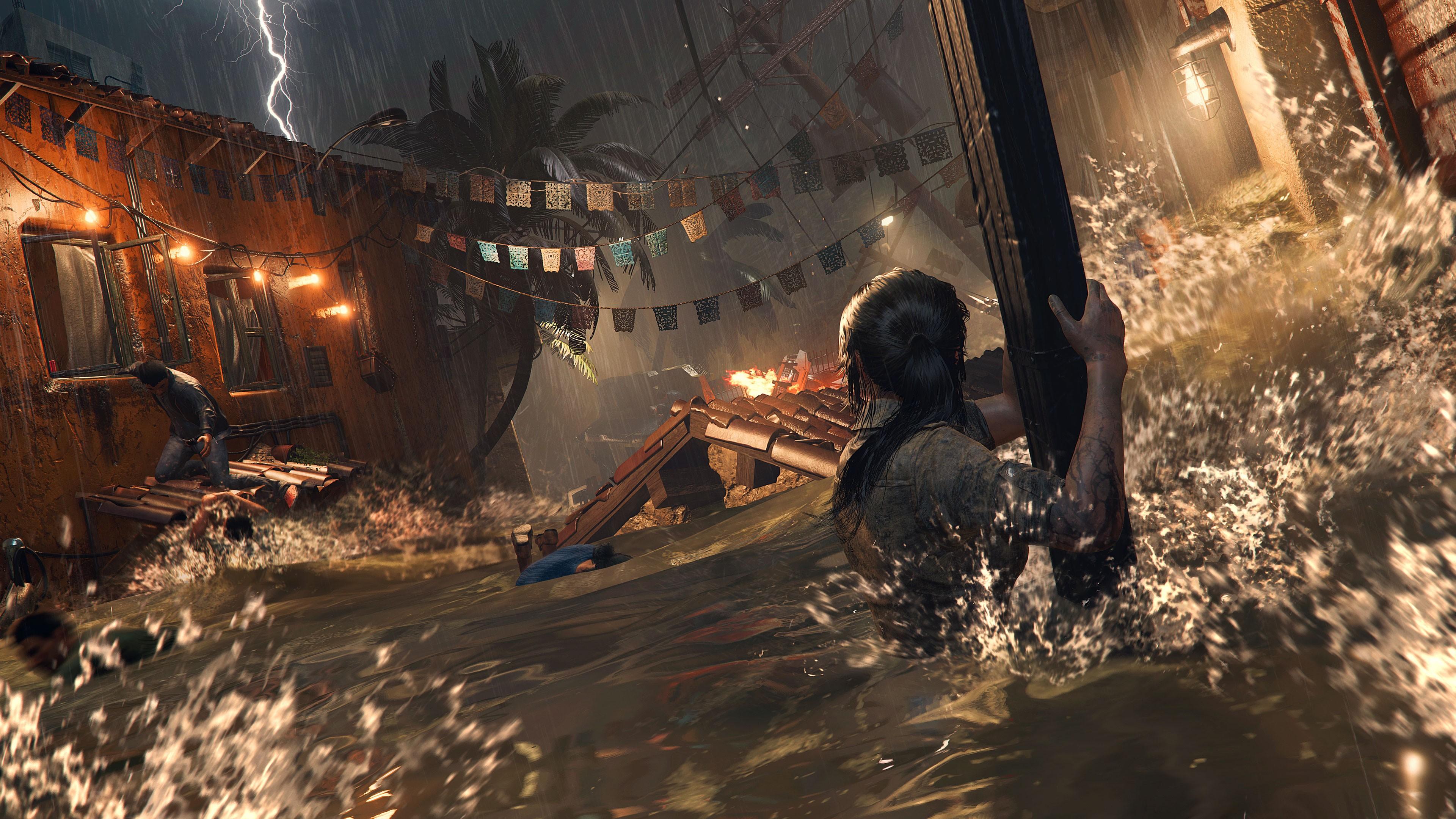 Wallpaper Shadow Of The Tomb Raider Lara Croft Screenshot 4k