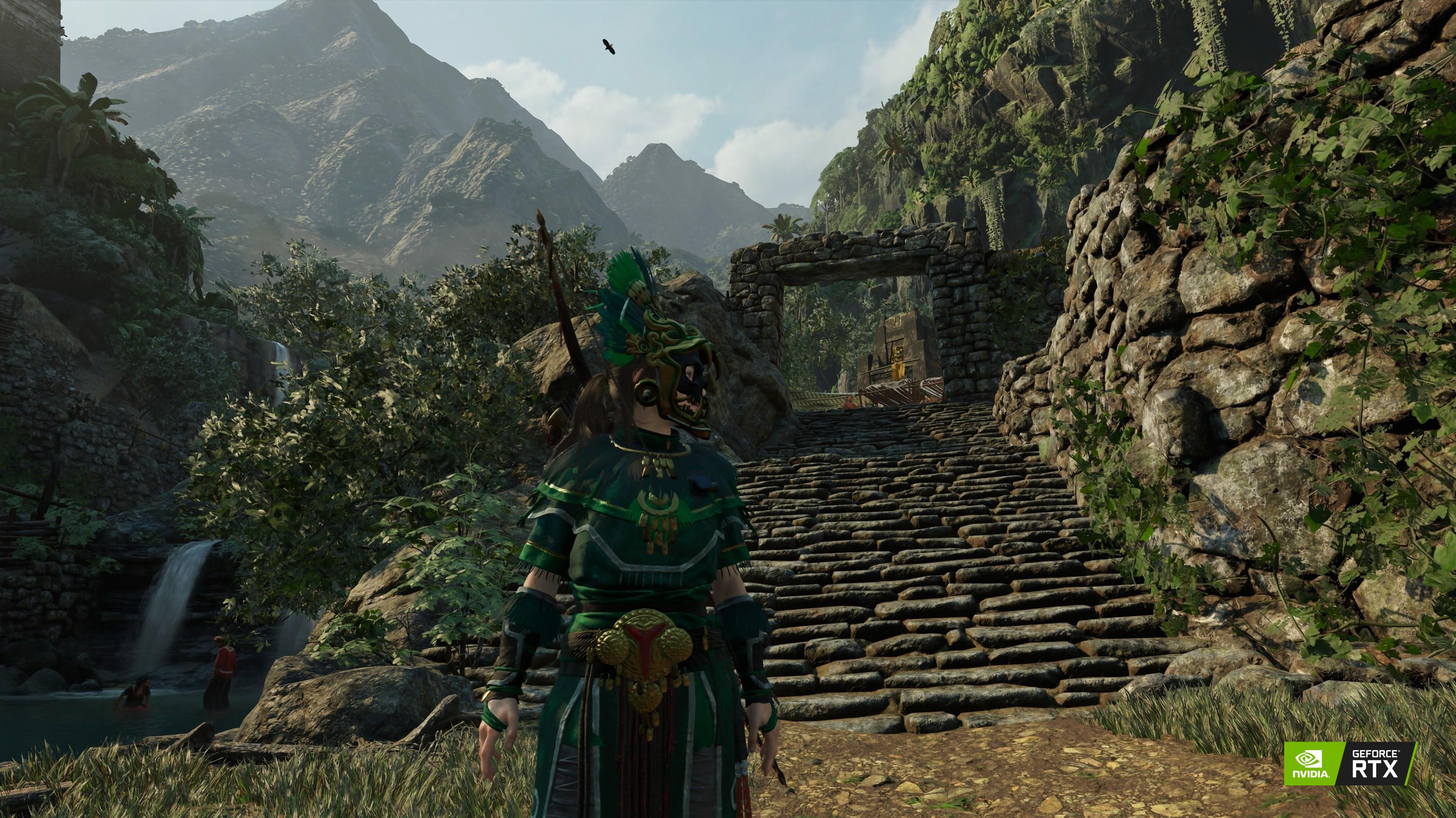 Wallpaper Shadow of the Tomb Raider, Lara Croft, screenshot