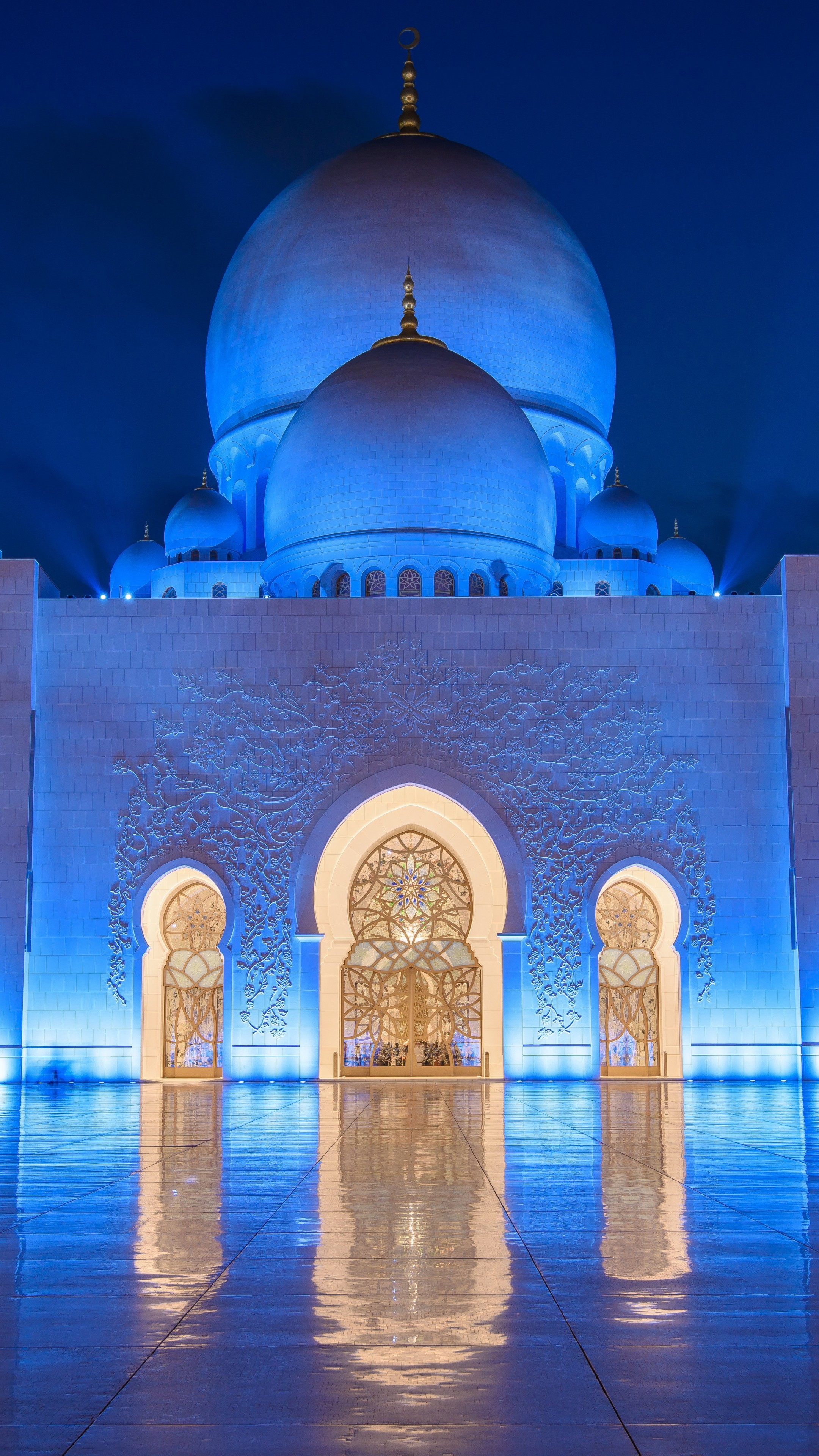wallpaper sheikh zayed mosque abu dhabi night  architecture
