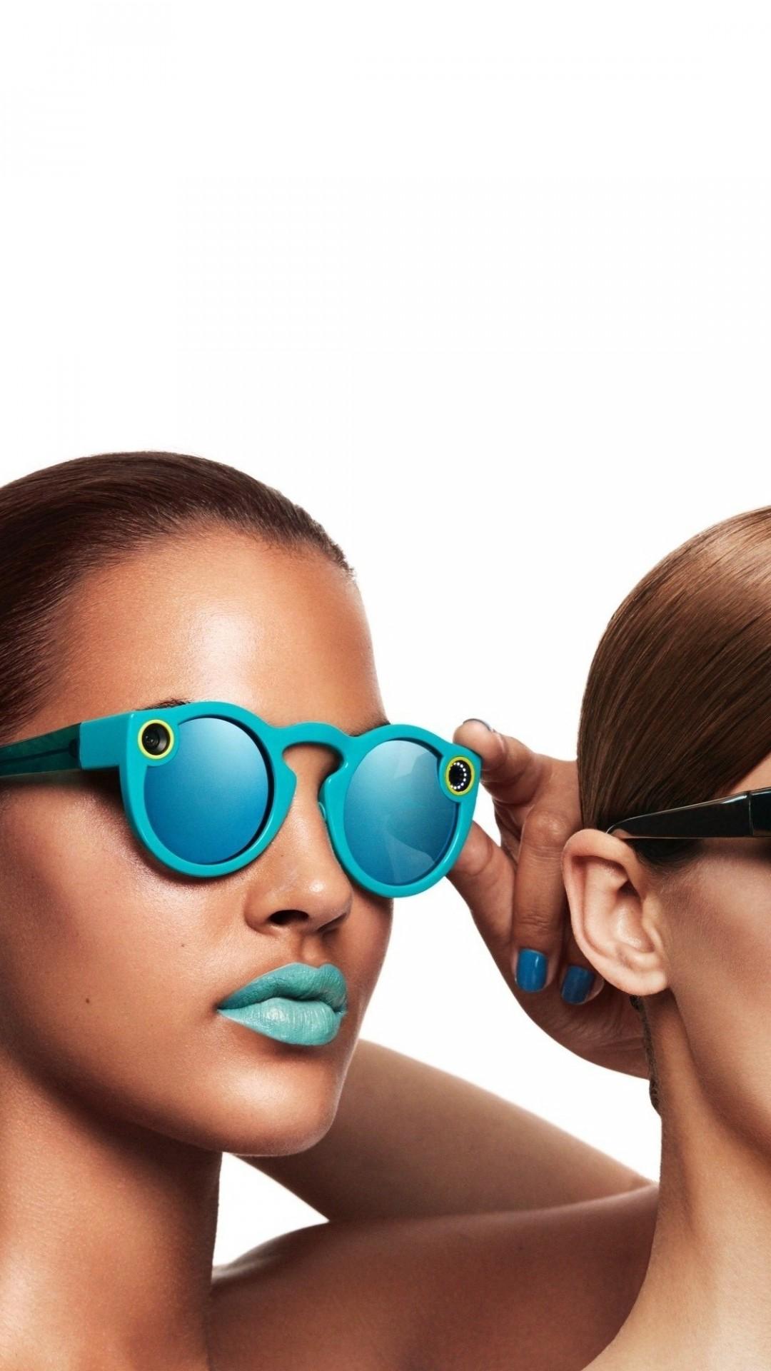 Wallpaper Snapchat Glasses Girl Blue Lips Google Glass