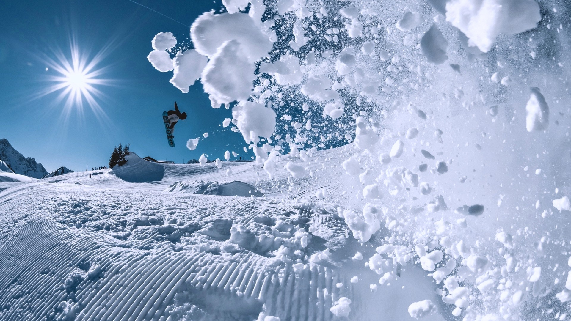 Wallpaper snowboarding winter snow 4k Sport 17399