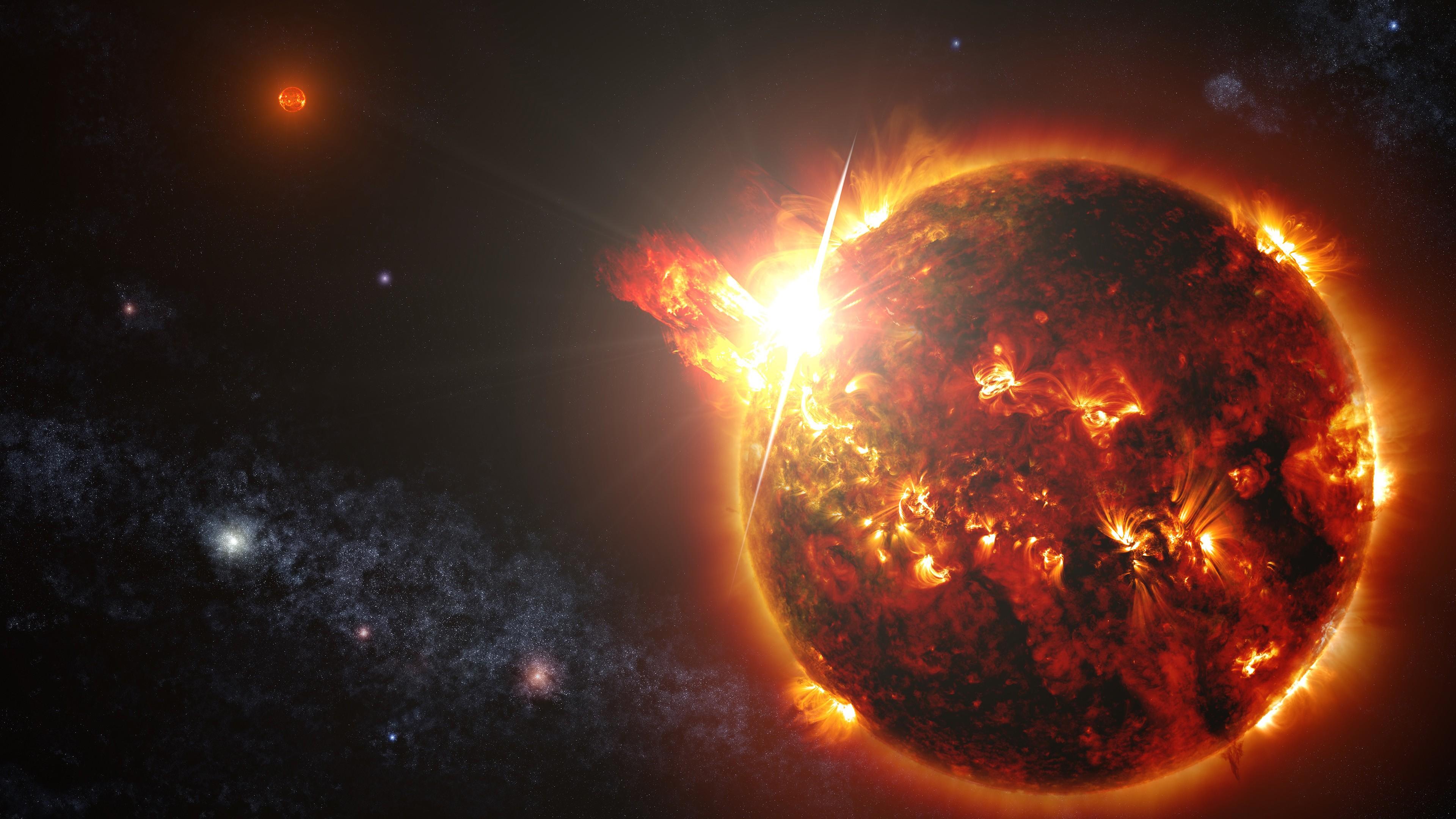 fire planet space wallpaper - photo #3
