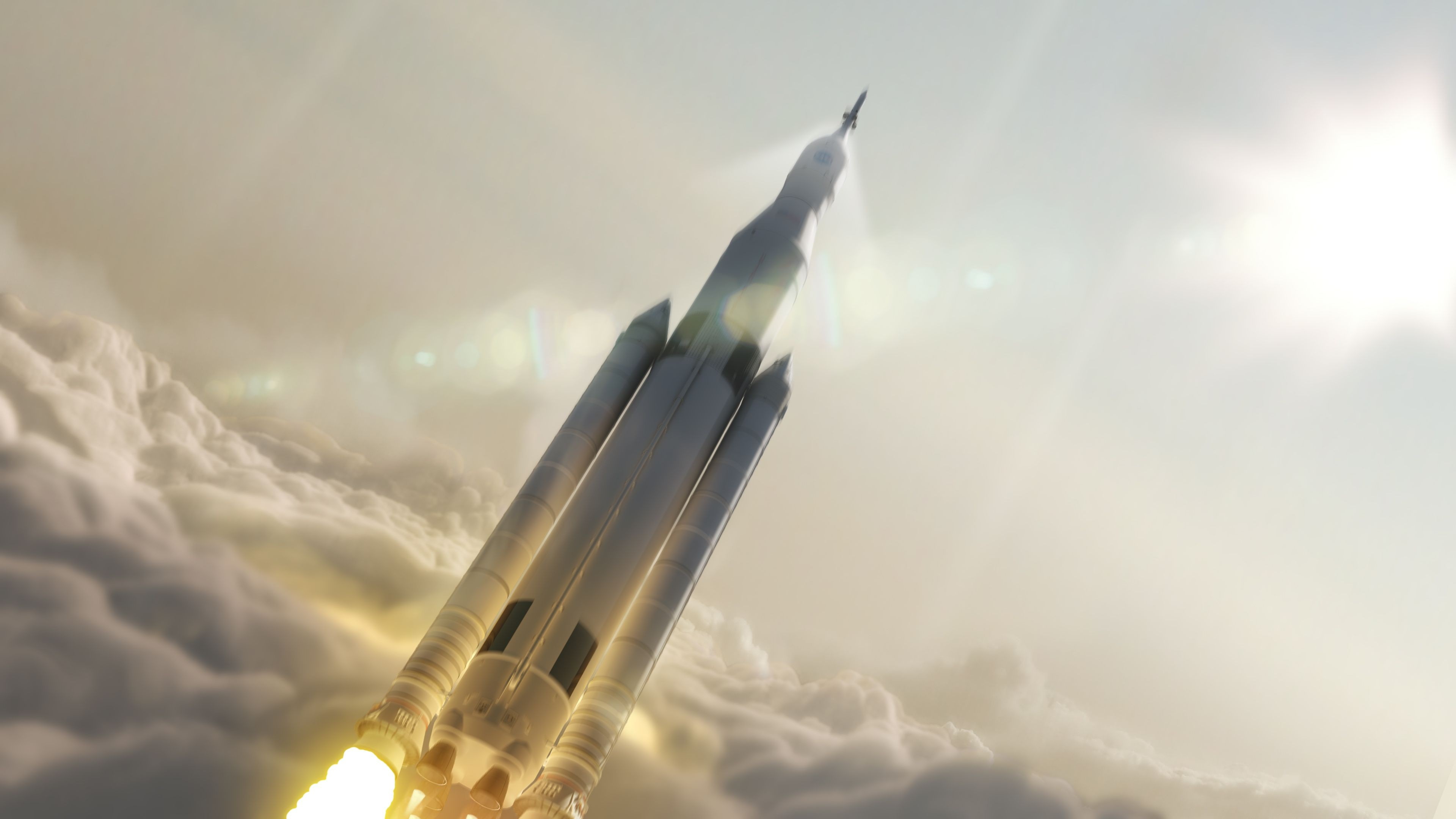 Wallpaper SpaceX, Falcon Heavy, Ship, Rocket, Mars