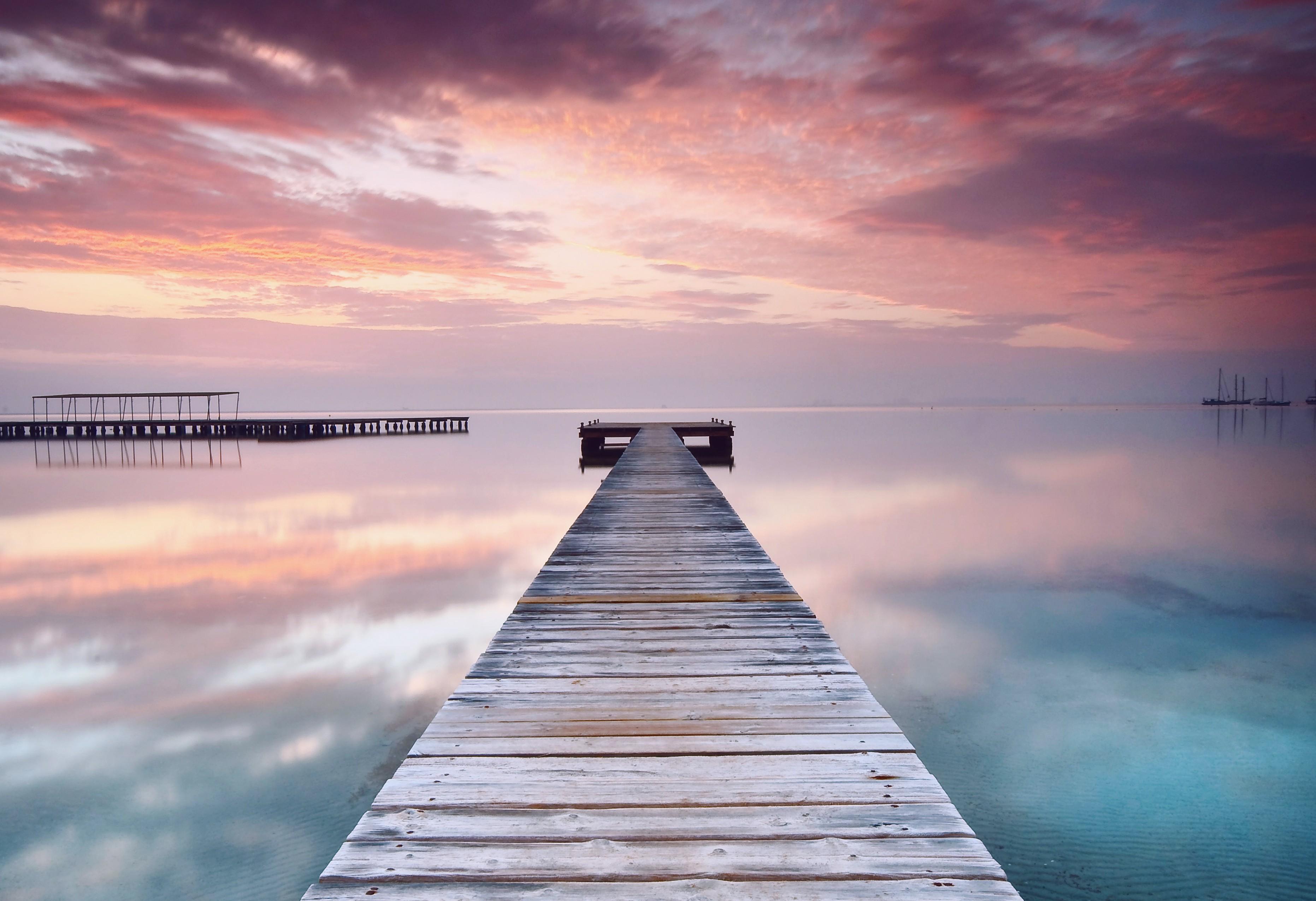 Wallpaper spain 5k 4k wallpaper pink sky clouds - Fantasy wallpaper bridge ...