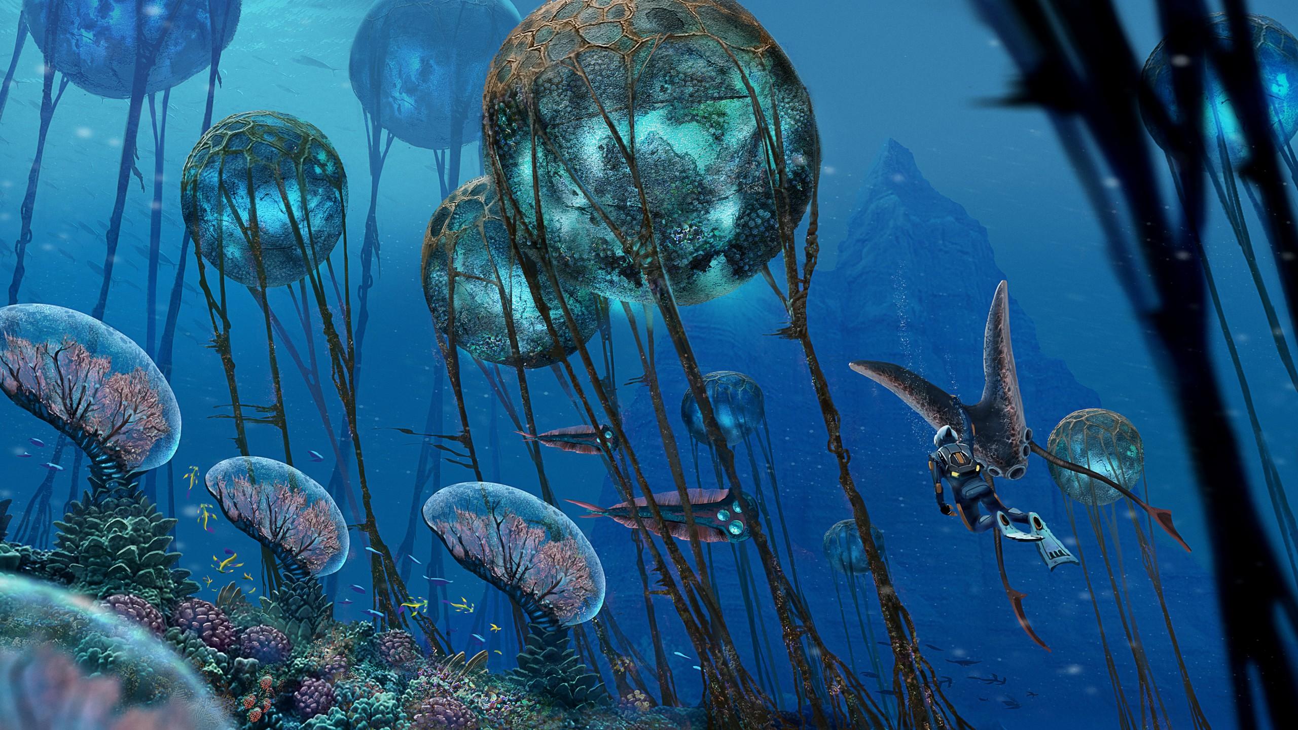Subnautica, screenshot, underwater, 4k