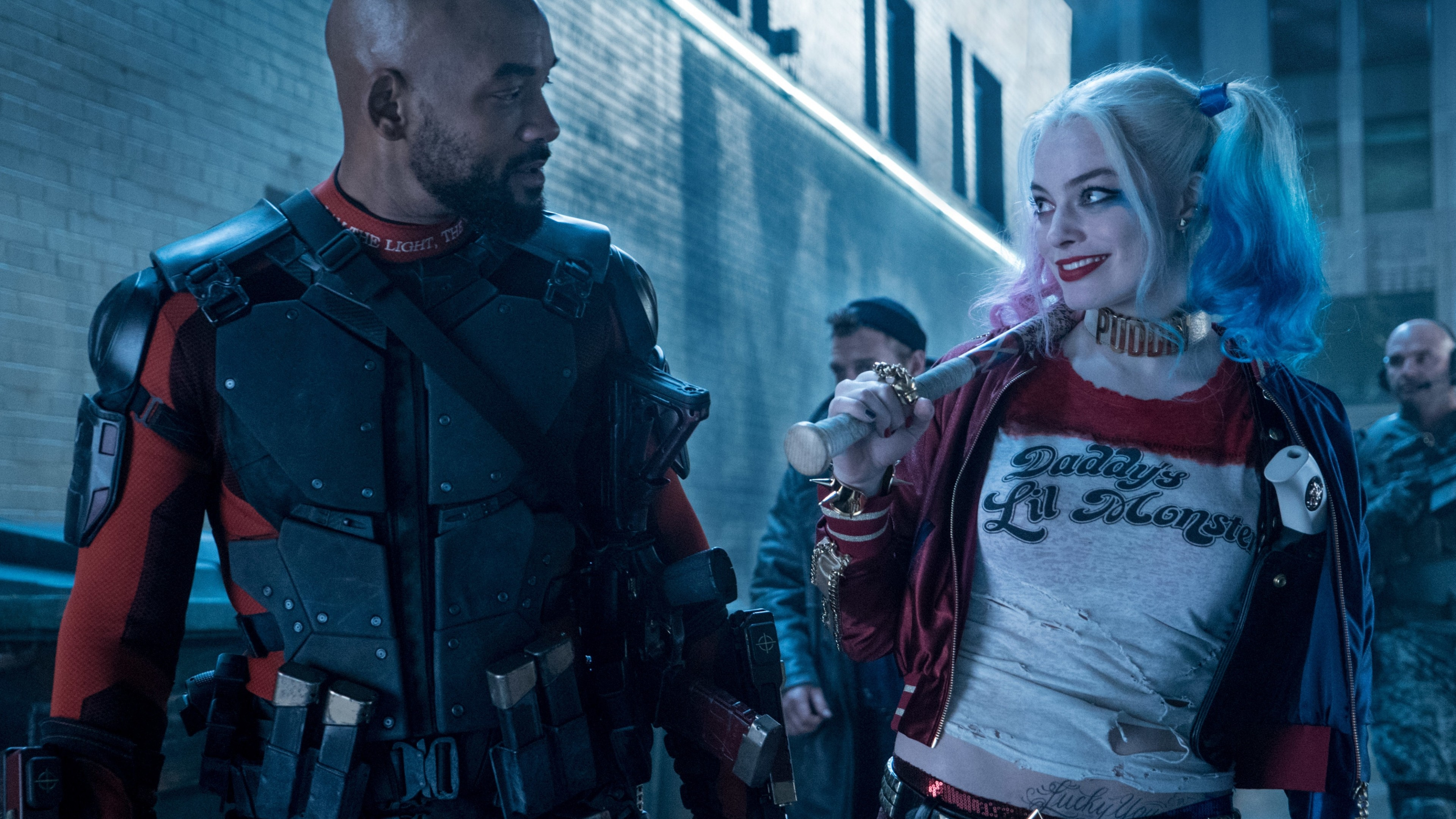 wallpaper suicide squad, harley quinn, margot robbie, will smith