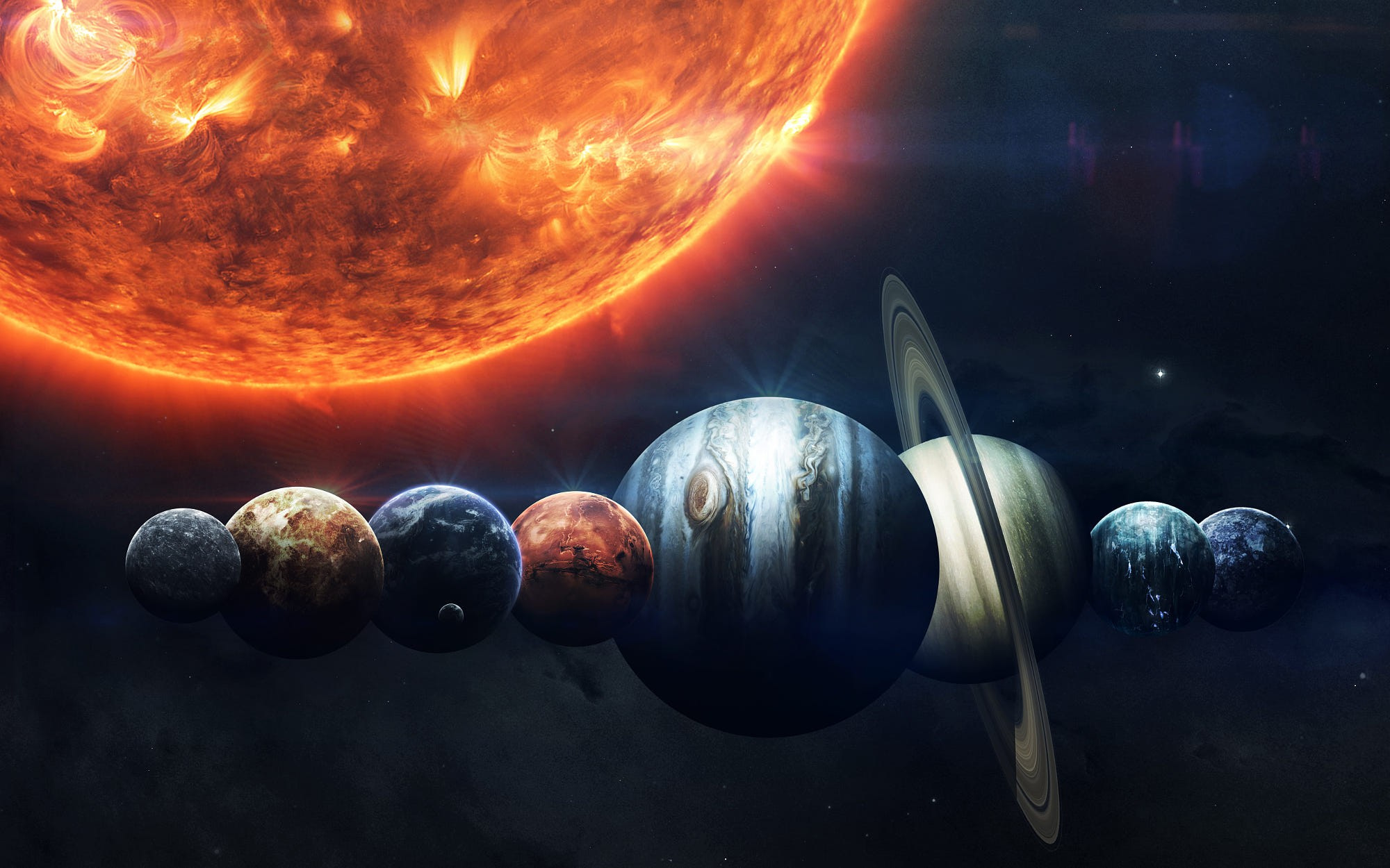 wallpaper sun, planet, hd, space #16032