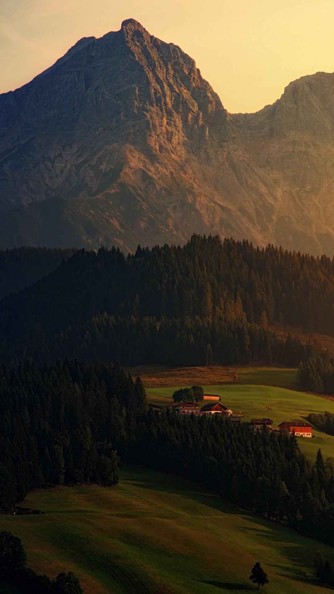 Best Mountain Bikes >> Wallpaper sunset, forest, mountains, 6K, Nature #19833