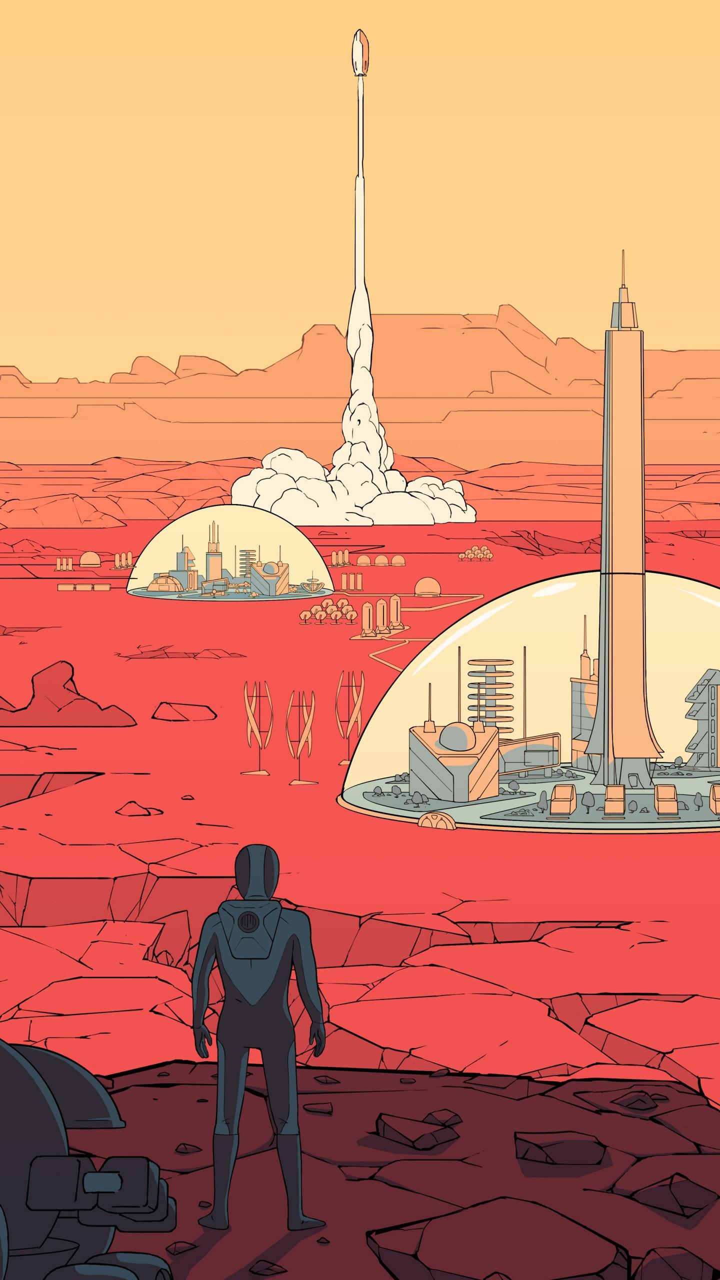 Wallpaper Surviving Mars, poster, 8k, Games #17774