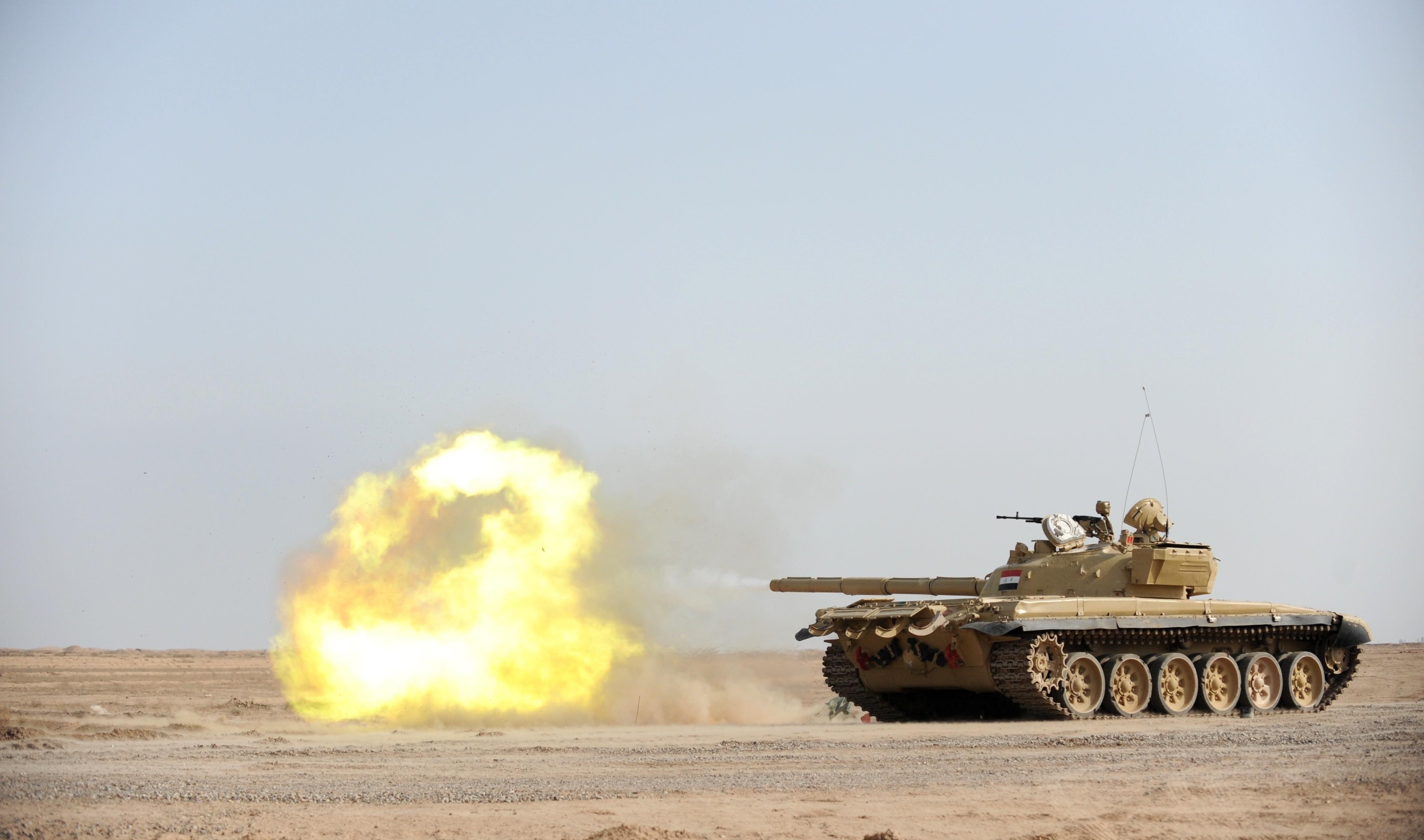 T B X Tank Second Generation Firing Desert