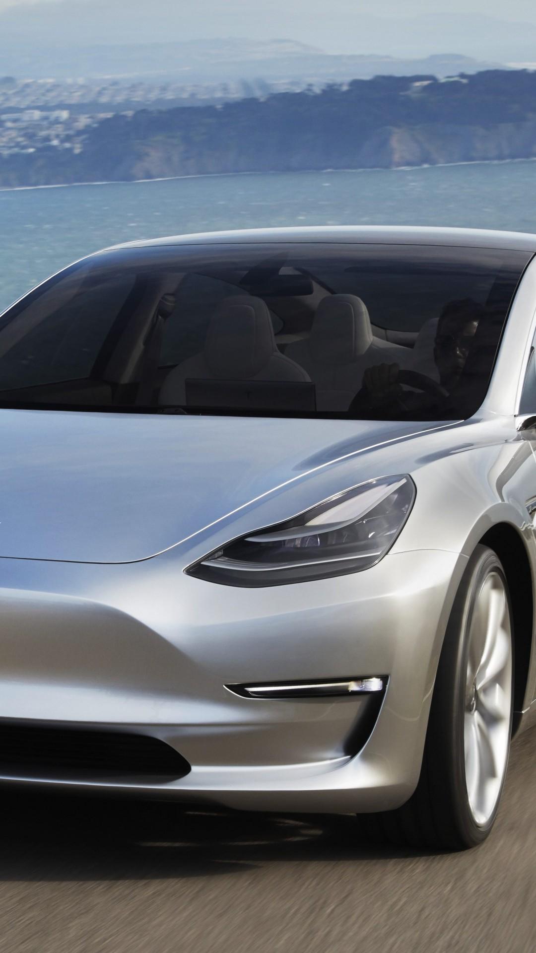 Wallpaper Tesla Model 3 Prototype, electric cars, sedan ...