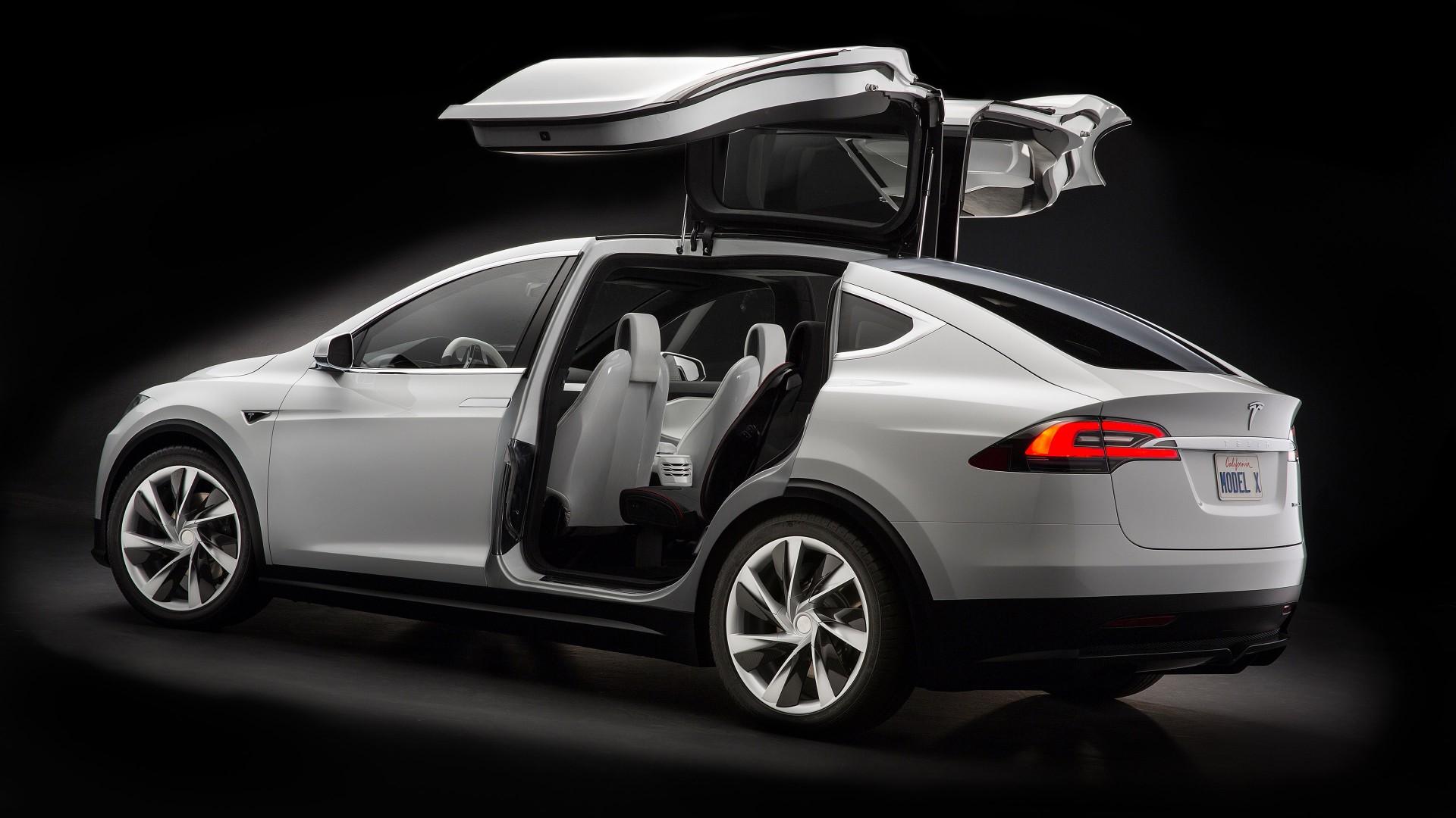 Wallpaper Tesla Model X, White, Electric Cars, Suv, 2016