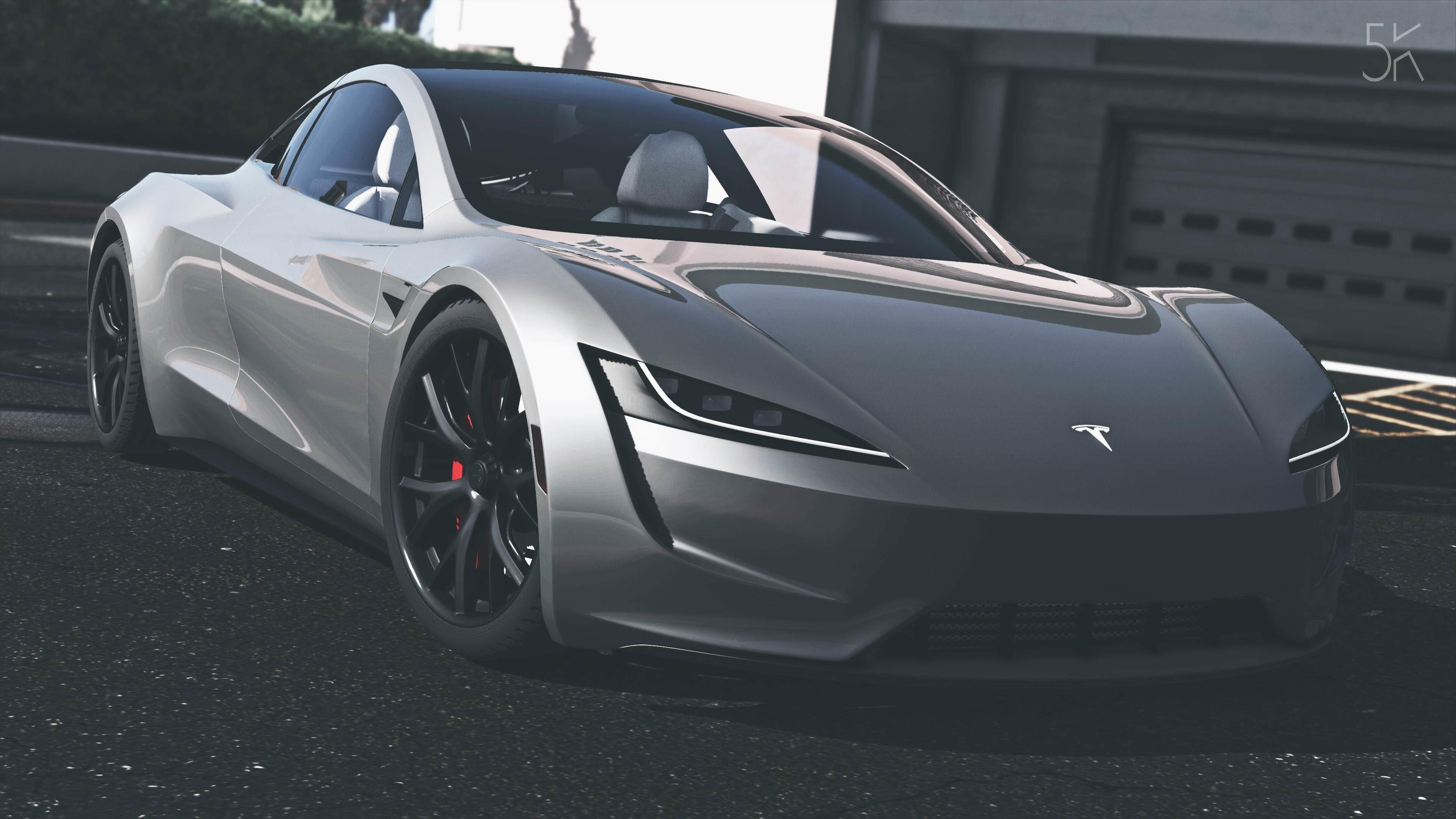 wallpaper tesla roadster, gta 5, 2020 cars, electric car, 4k, cars
