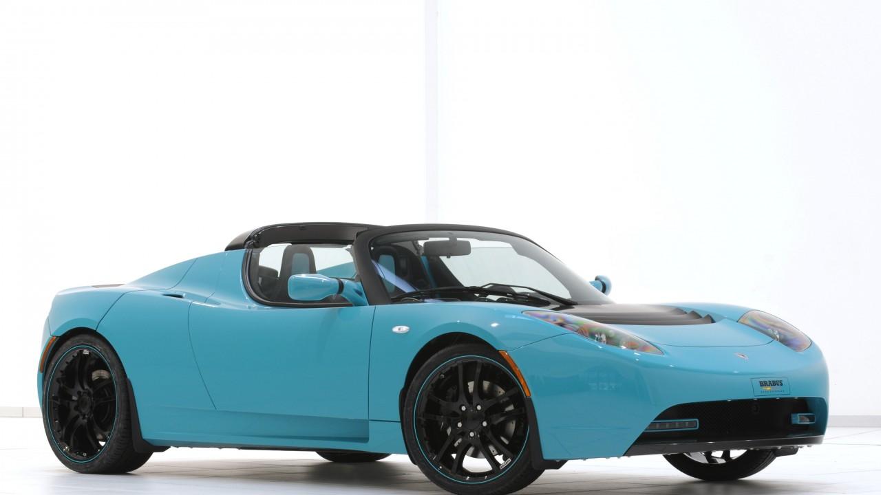 Wallpaper Tesla Roadster Sport Quickest Electric Cars