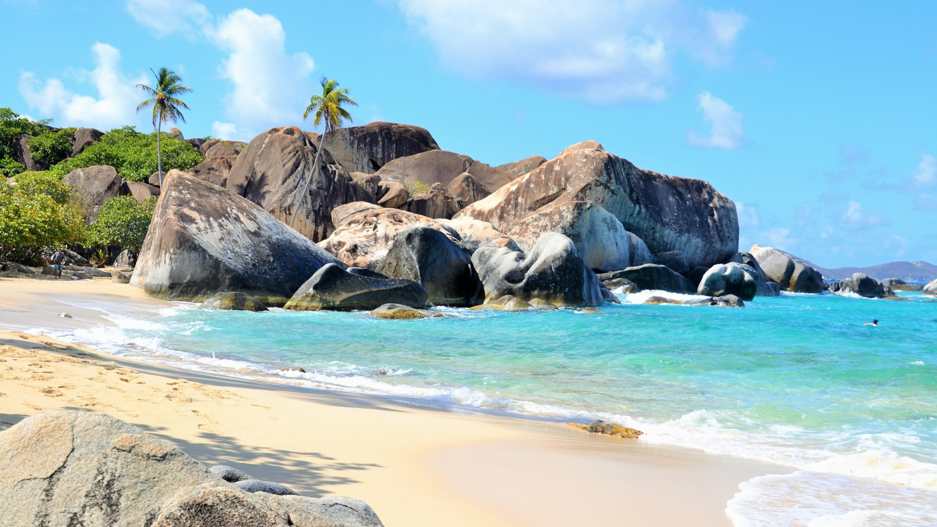 Wallpaper The Baths Virgin Gorda British Virgin Islands
