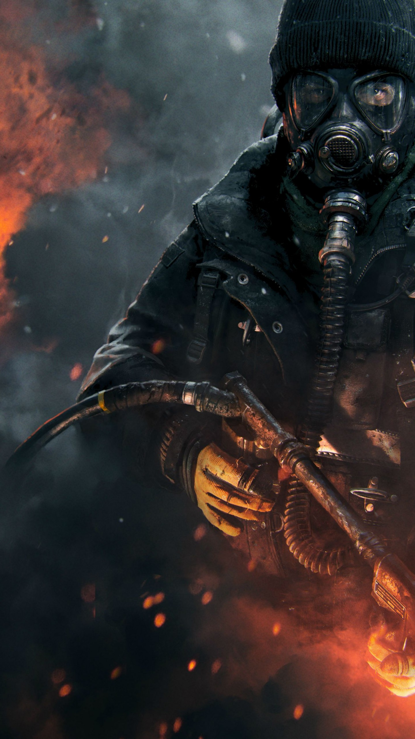 Wallpaper The Division, Tom Clancy's, Flamethrower