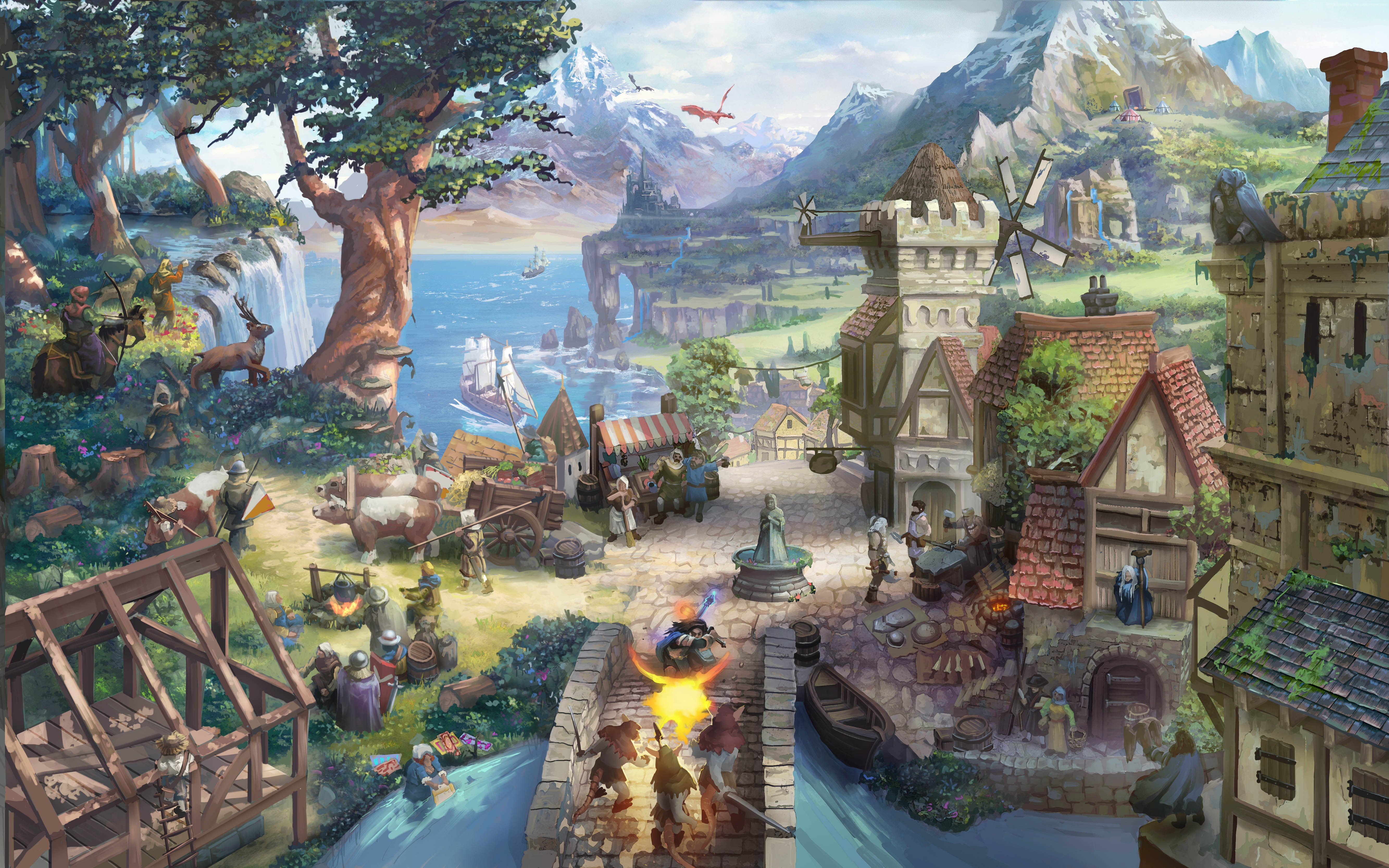 Wallpaper therian saga 2015 game browser mmo village for Wallpaper home 2015