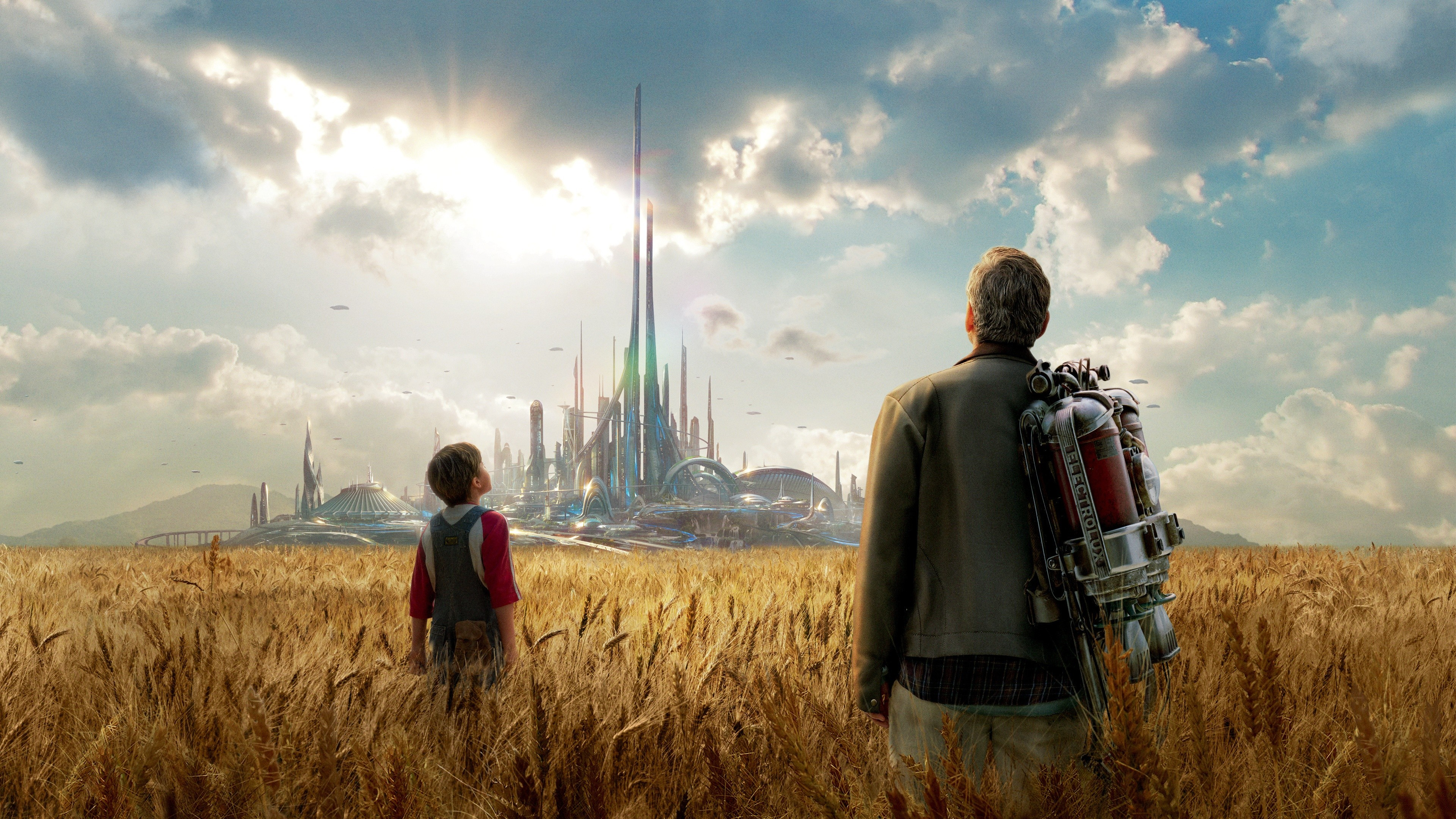 Wallpaper tomorrowland 2015 best movies of 2015 george for Wallpaper home film