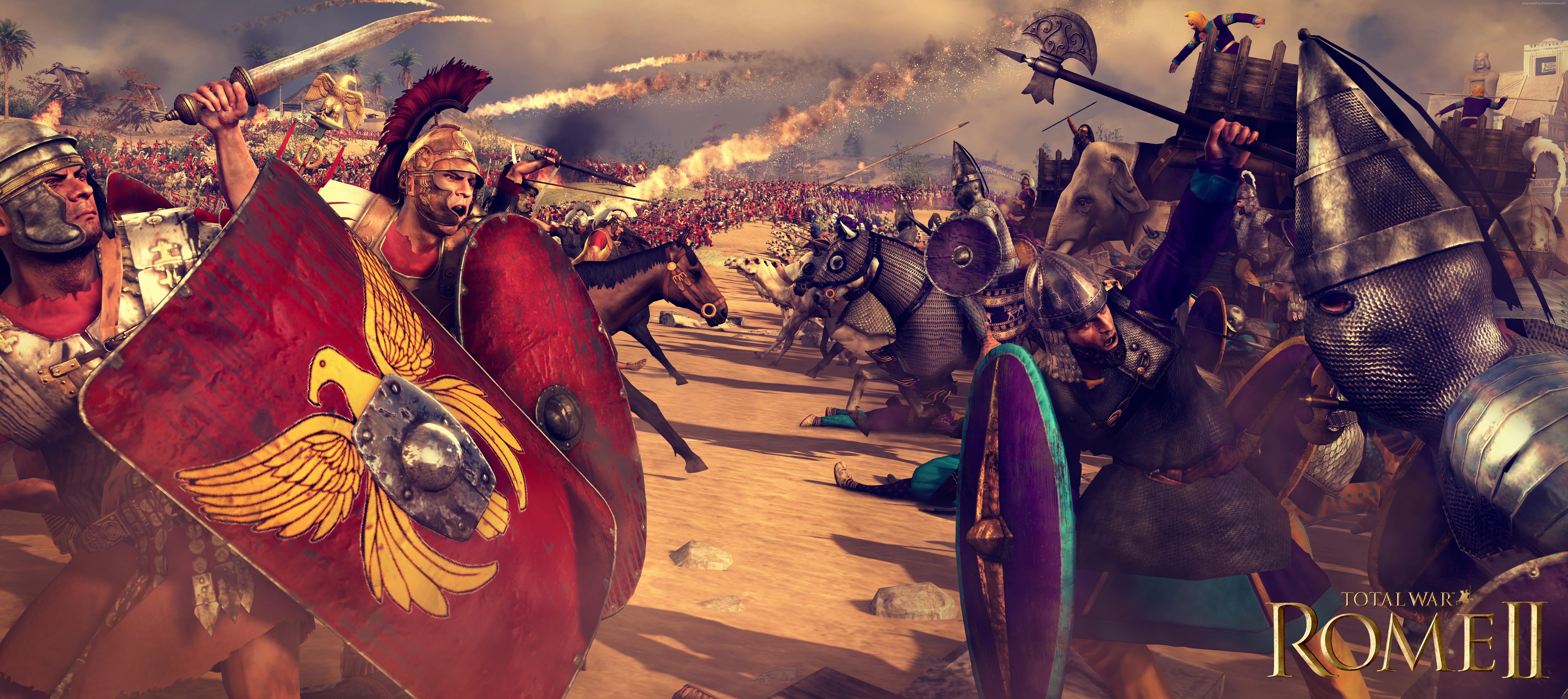 Wallpaper Total War Rome Ii Game Battle Warrior