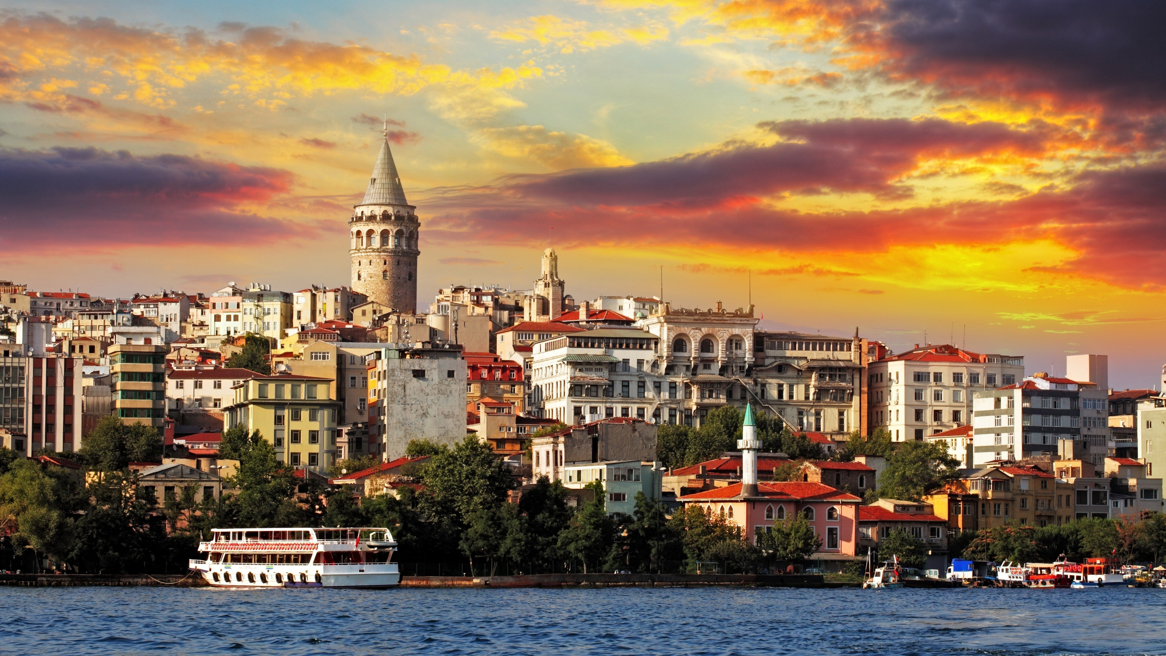 Wallpaper Turkey Istanbul Sea Sunrise 4k Travel 16656