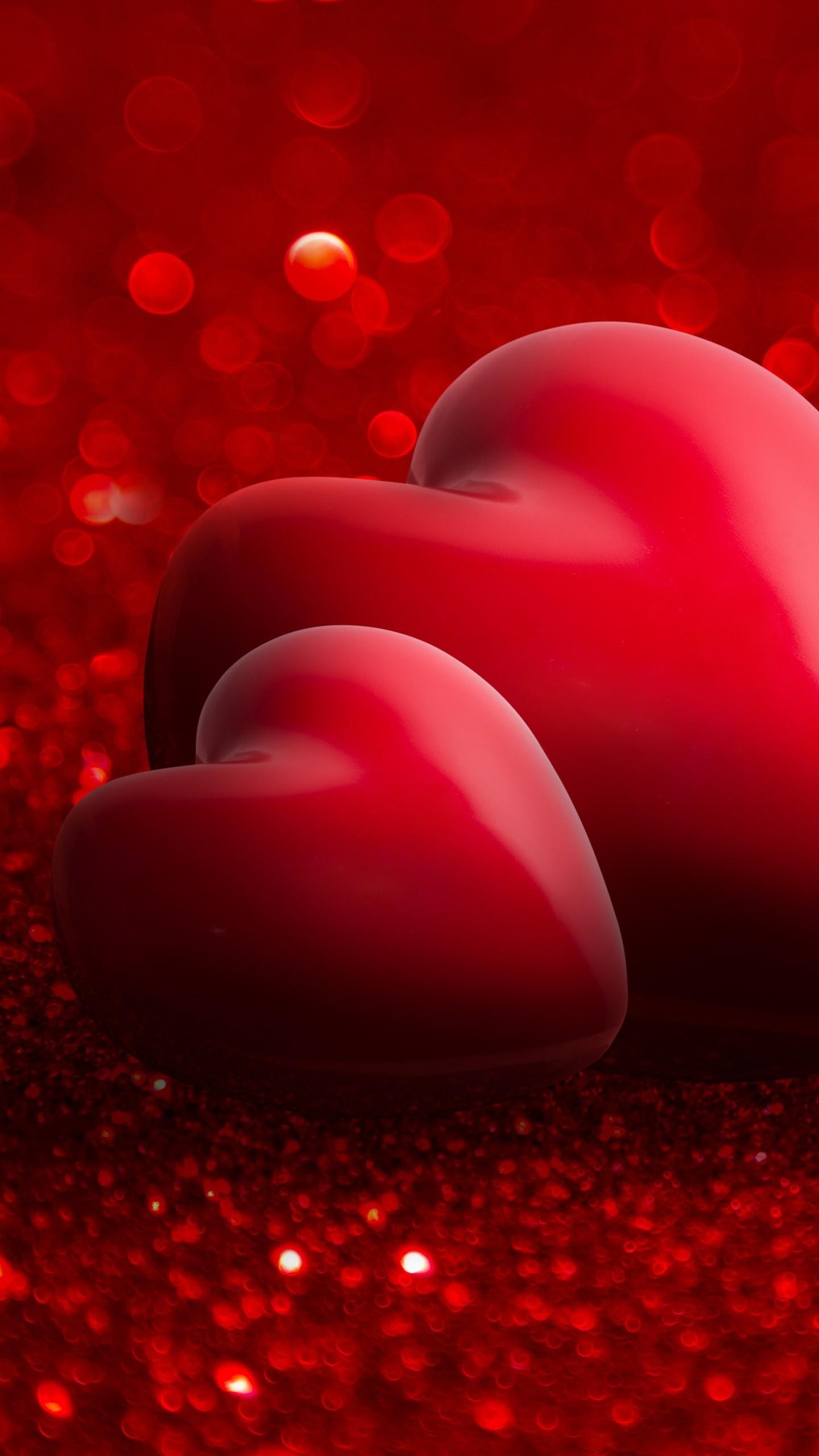 Wallpaper valentine 39 s day love image heart red 4k - Heart to heart wallpaper ...