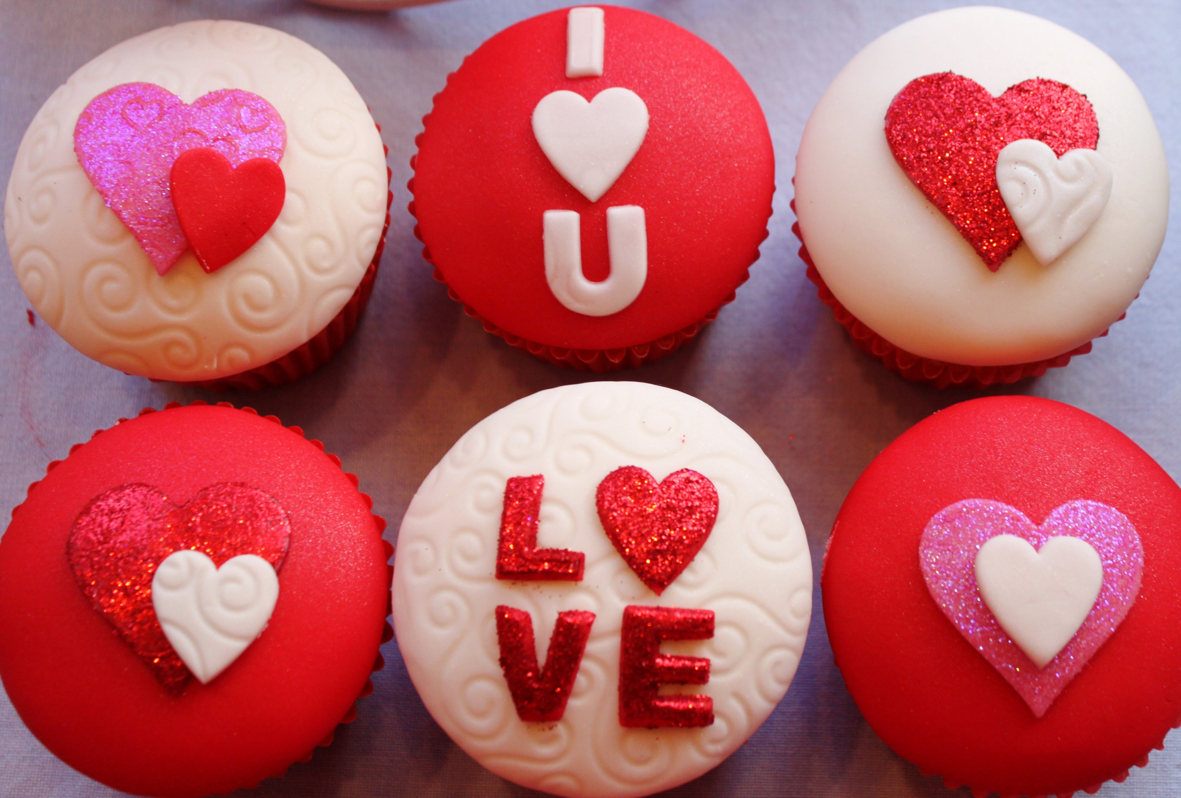 wallpaper valentine's day, cupcake, cake, heart, love, food #8490