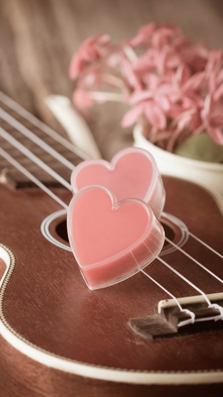 wallpaper valentine u0026 39 s day  heart  guitar  romantic