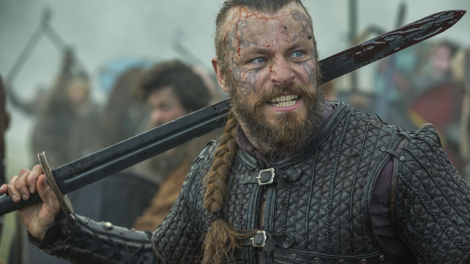Wallpaper Vikings Season 5 Travis Fimmel Katheryn Winnick 4k 5k Movies 18087