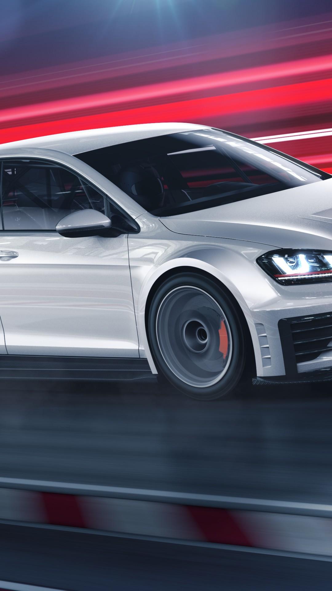 Wallpaper Volkswagen Golf GTI TCR, racecar, white, Cars ...