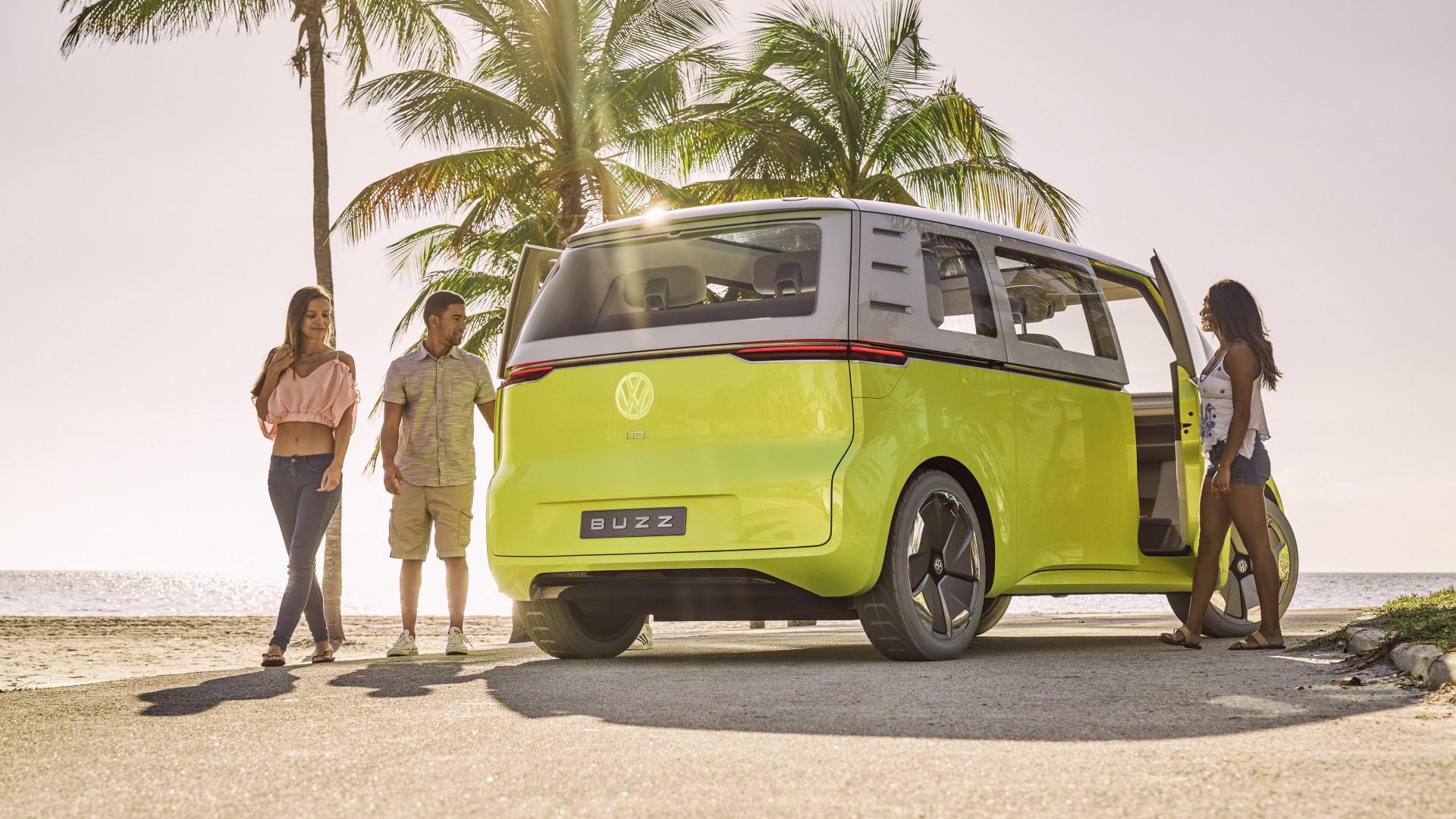 wallpaper volkswagen id buzz 2021 cars electric car 4k