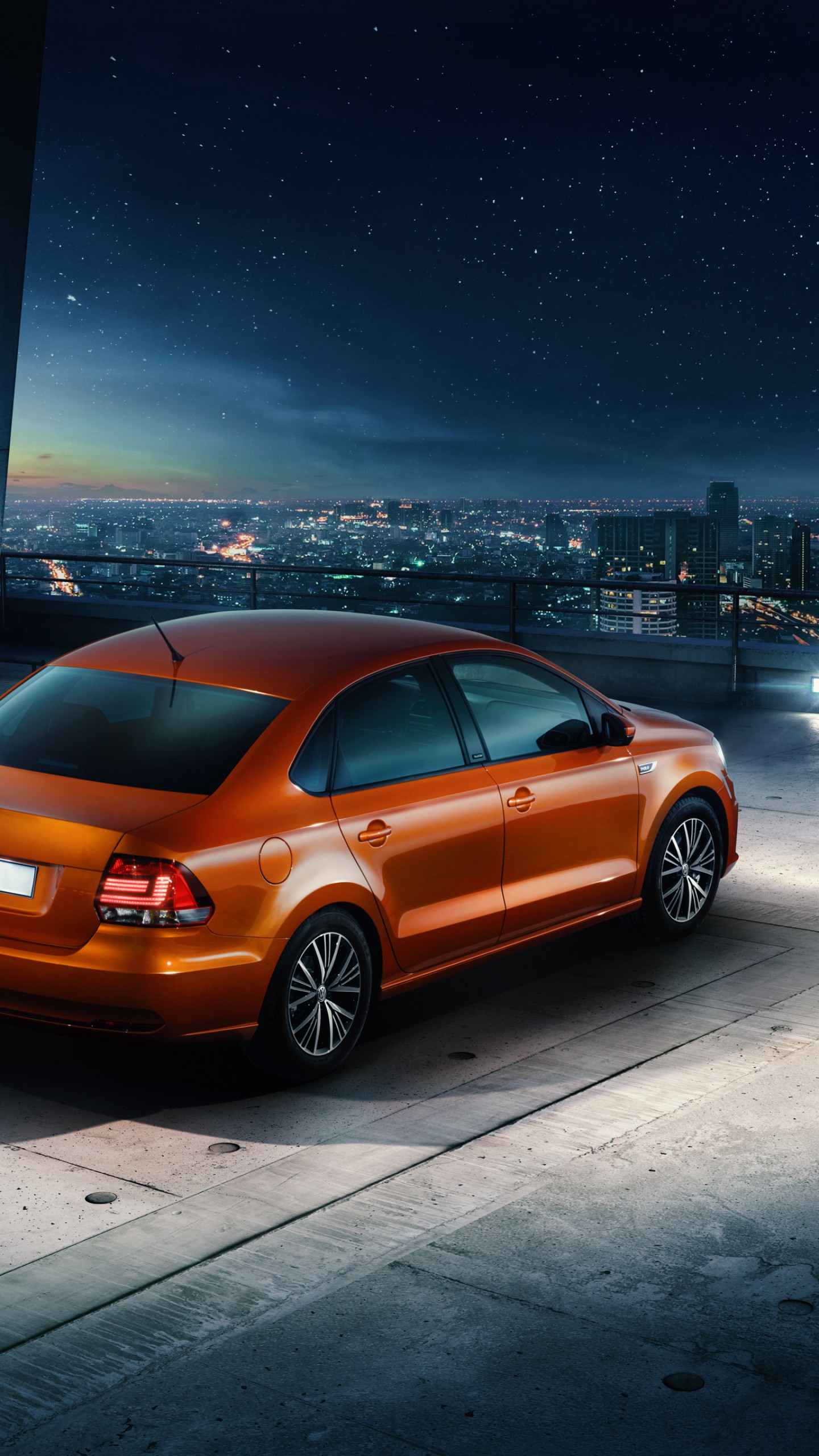 Toyota Of Orange >> Wallpaper Volkswagen Polo Allstar, Sedan, orange, Cars & Bikes #9746