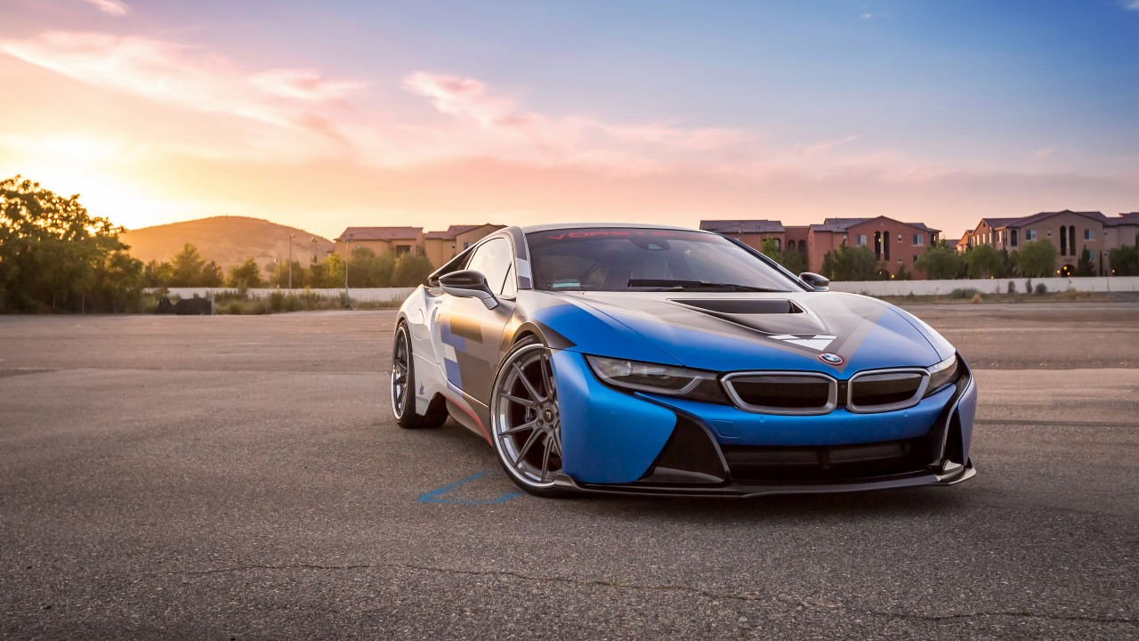 Wallpaper Vorsteiner Vr E Bmw I8 Supercar Sport Cars Blue Cars