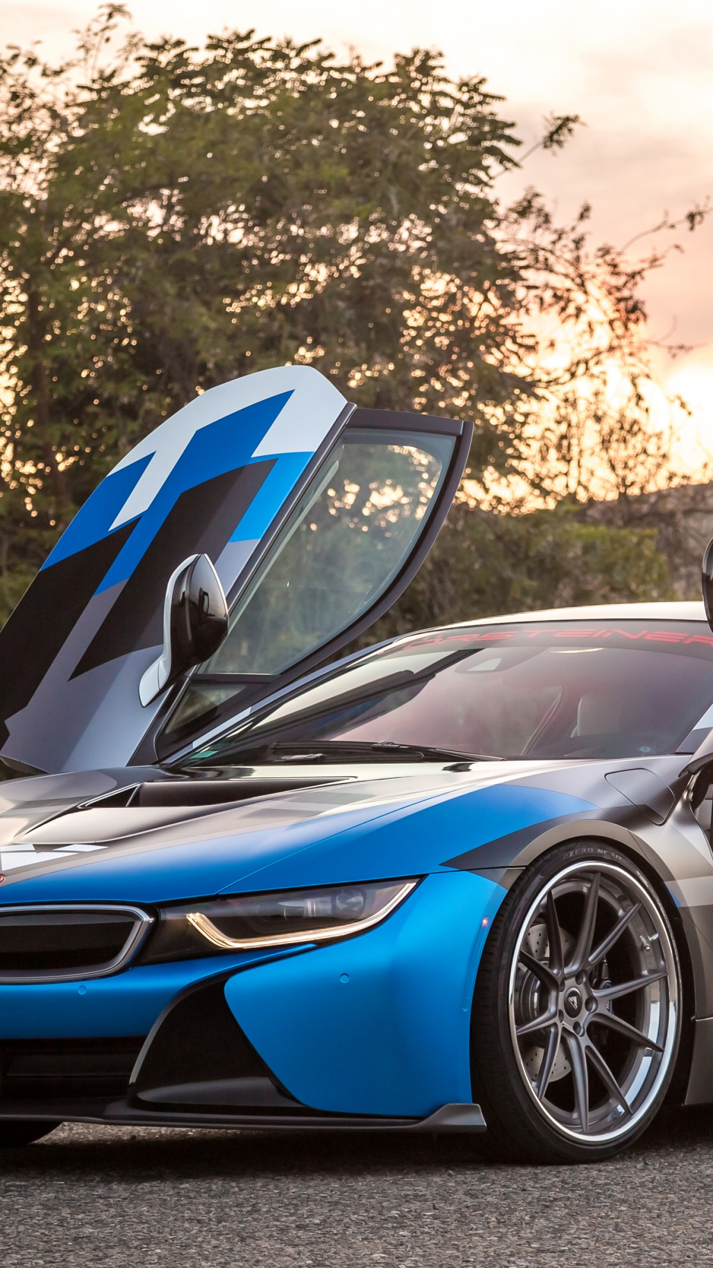Wallpaper Vorsteiner Vr E Bmw I8 Supercar Sport Cars Blue Cars Bikes 10768