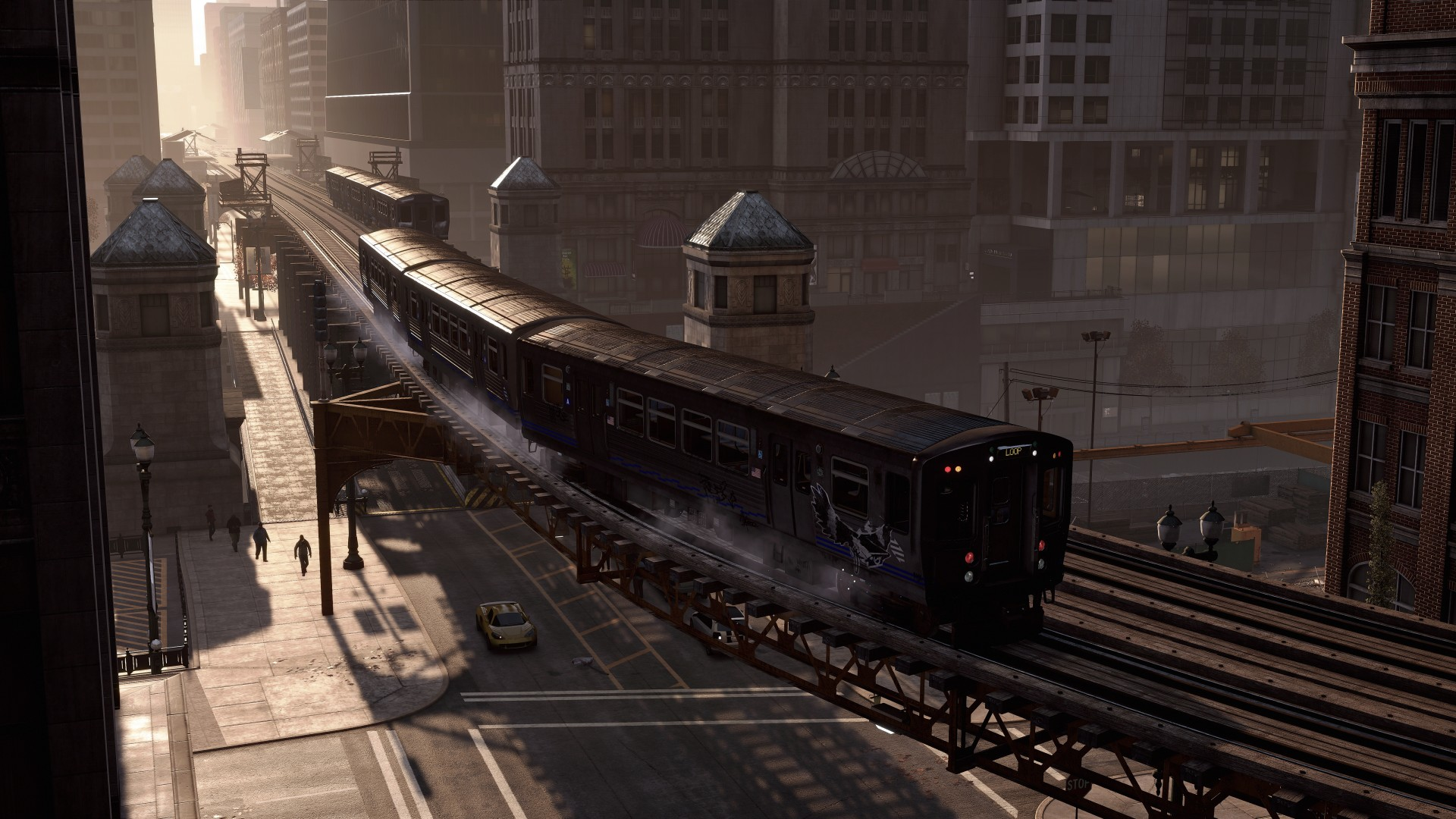 Wallpaper Watch Dogs, game, action, adventure, train, city, rails, screenshot, 4k, 5k, PC, 2015 ...