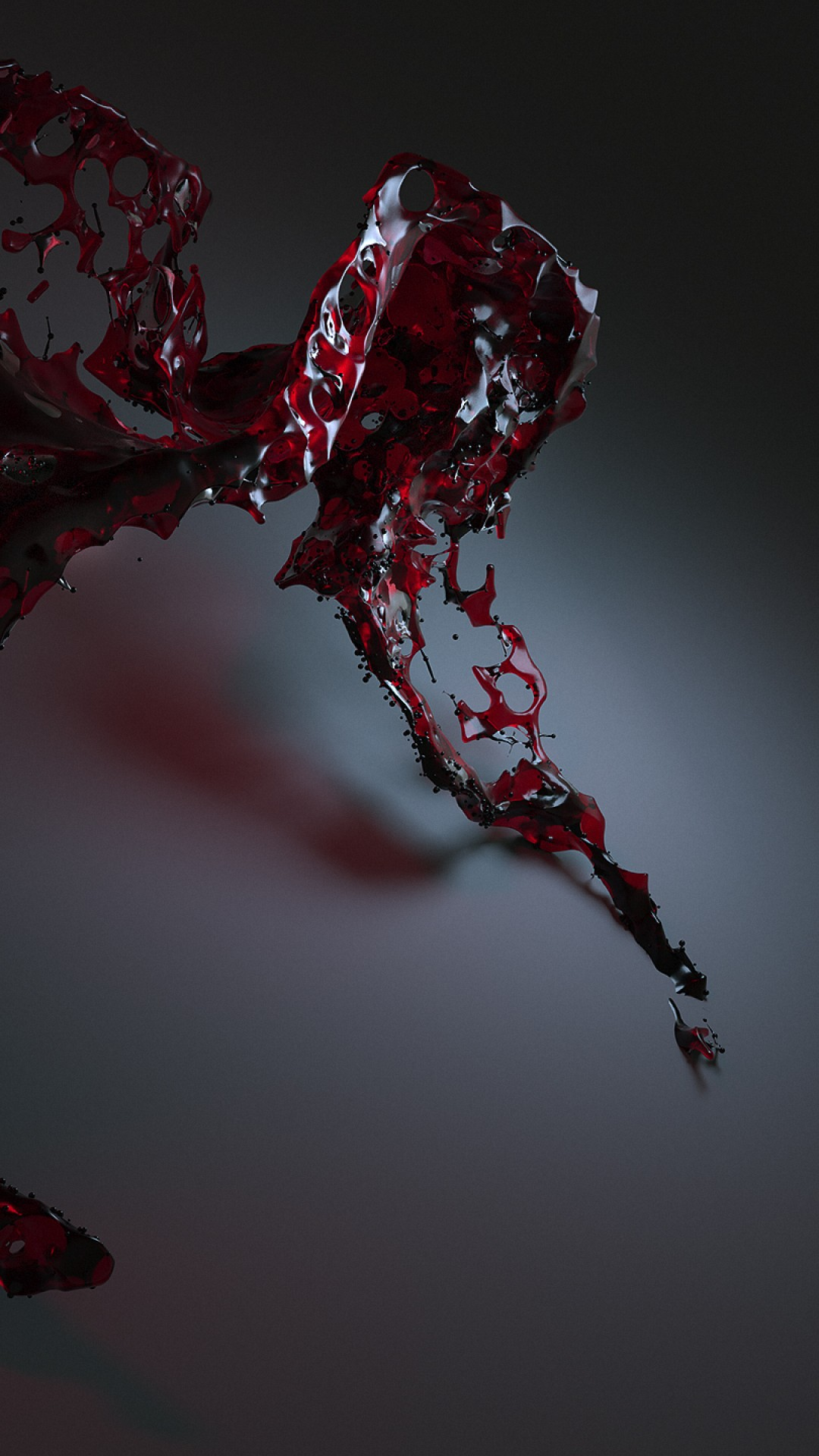Wallpaper Water 3d Red Hd Abstract 16364