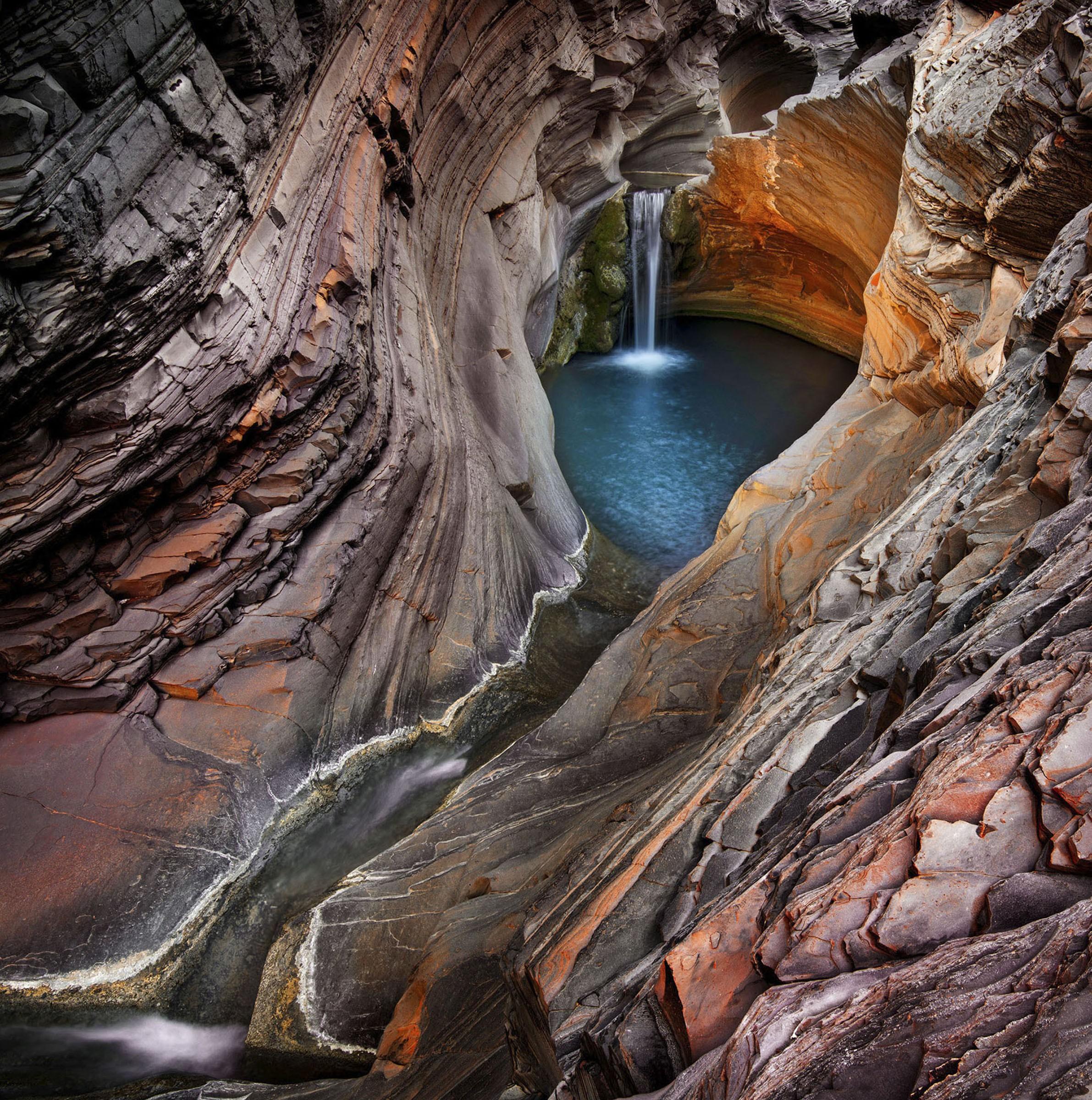 Wallpaper Waterfall, 4k, HD Wallpaper, Hamersley Gorge