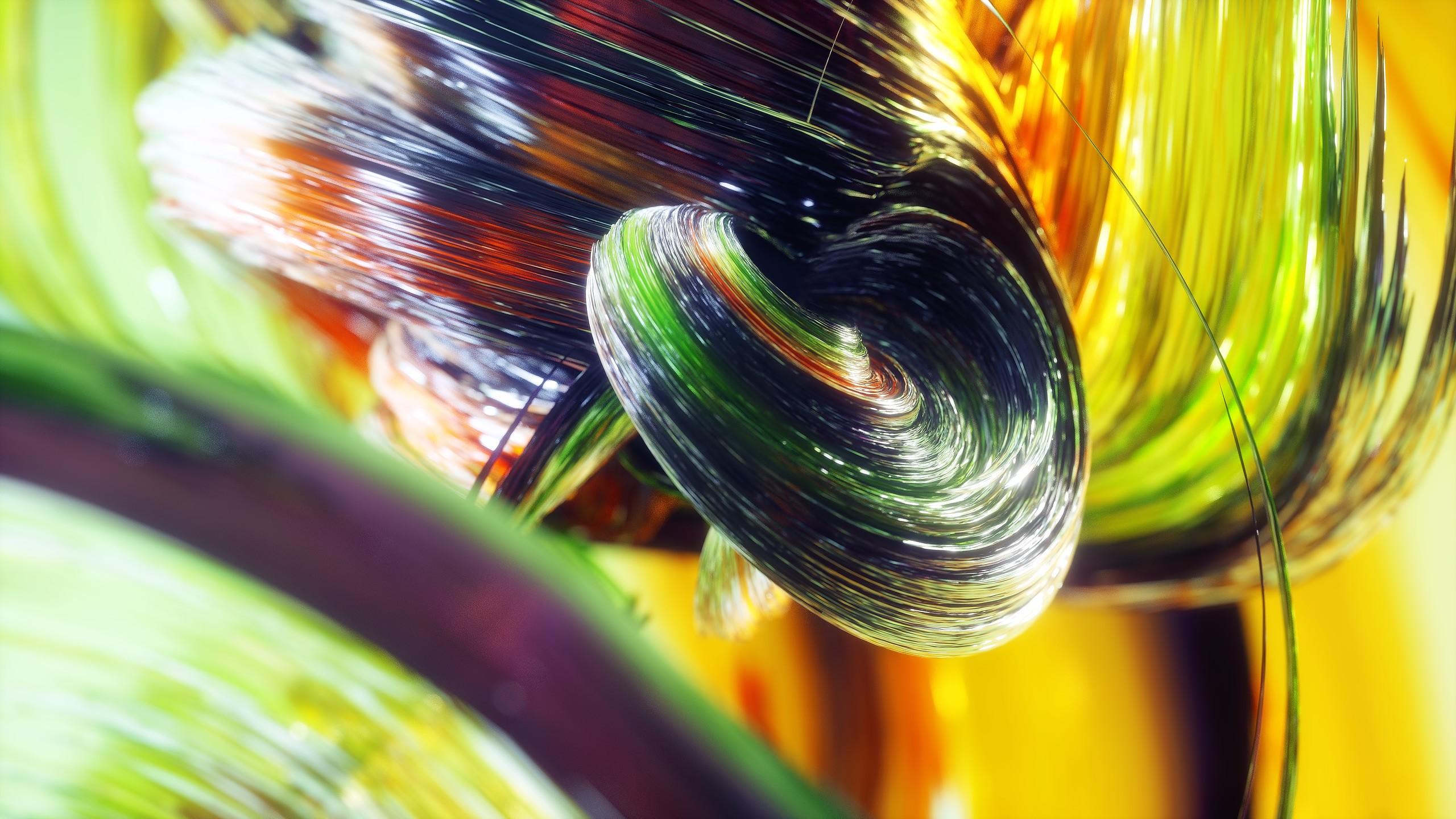 Wallpaper waves, lines, abstract, 3D, colorful, Abstract