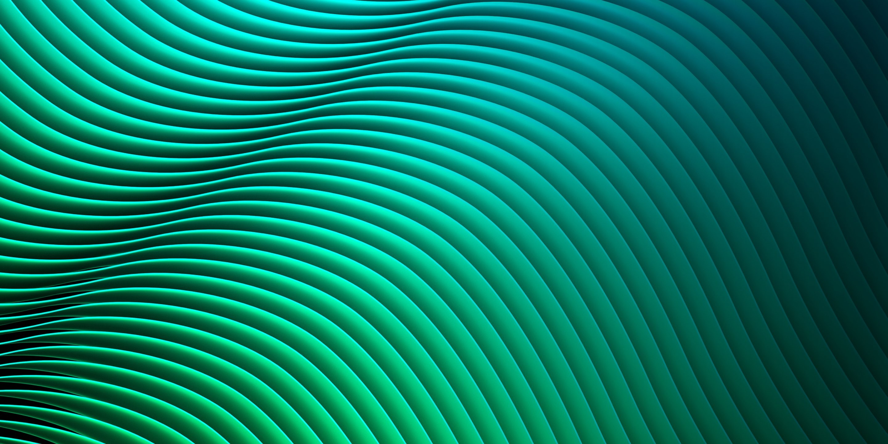 Wallpaper waves lines green hd abstract 15588 for Wallpaper home line