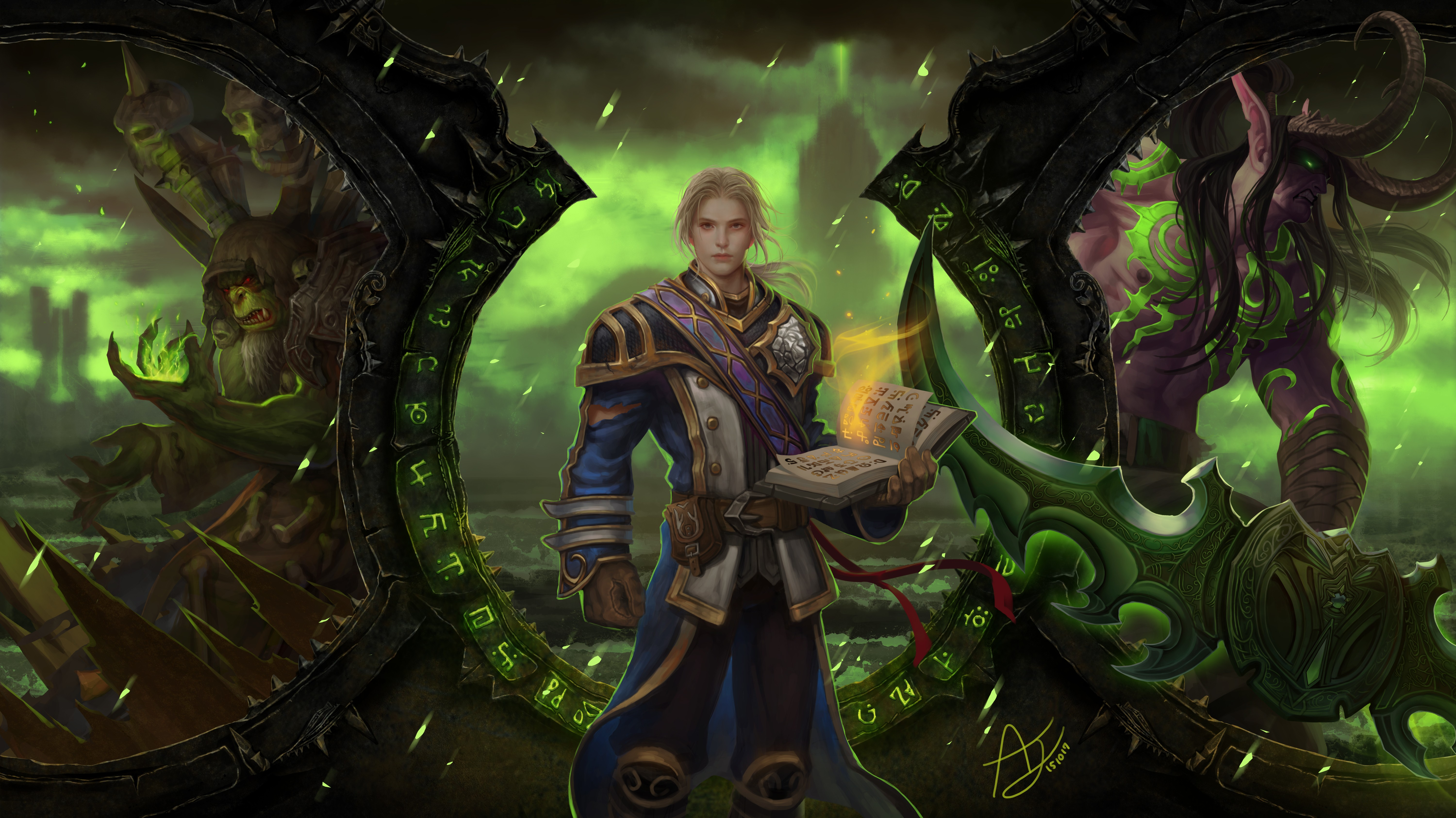 wallpaper world of warcraft legion mmorpg best game fantasy pc art 8222