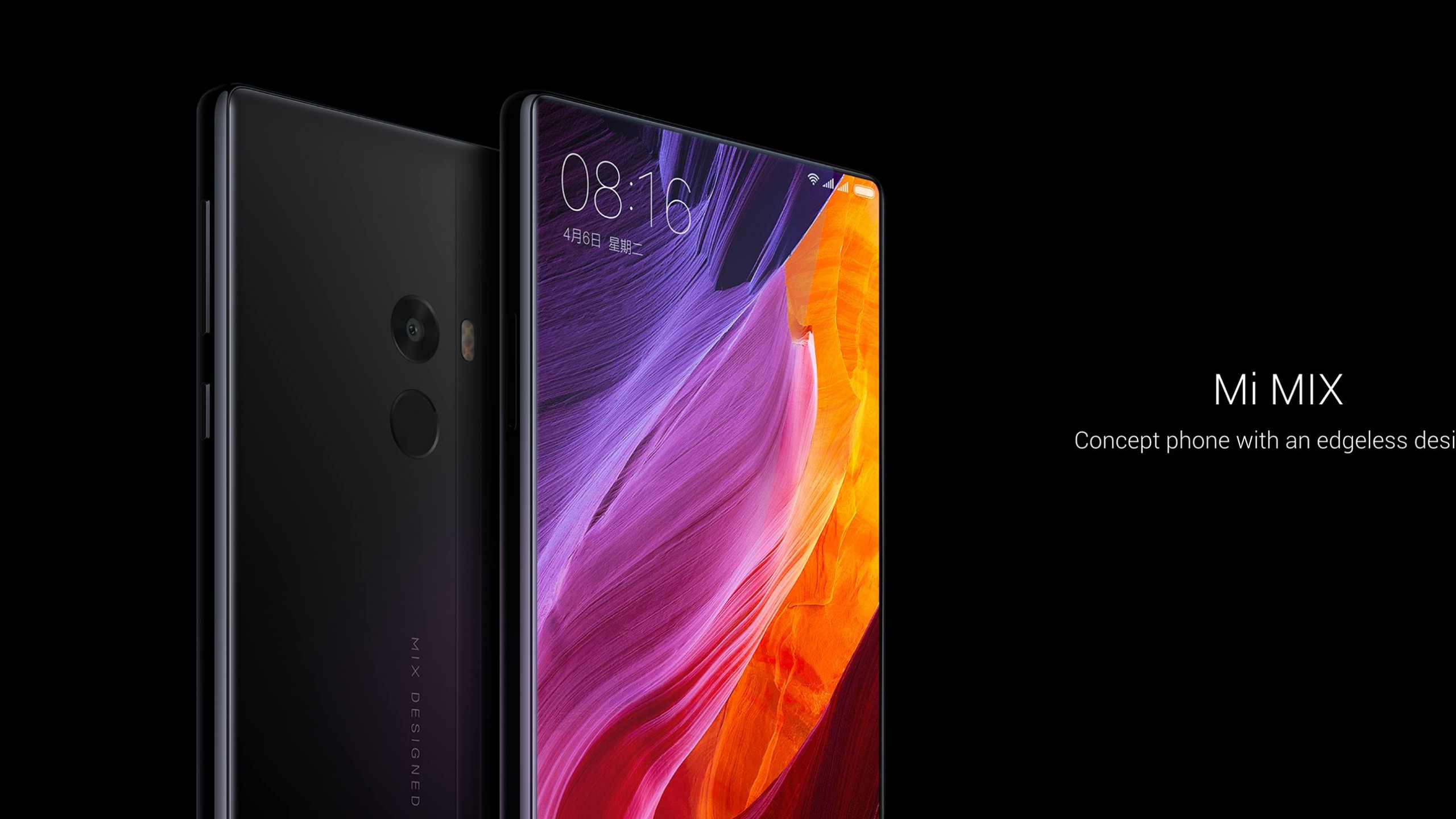 Xiaomi Wallpapers Hd: Wallpaper Xiaomi Mi Mix, Black, HD, Hi-Tech #15380