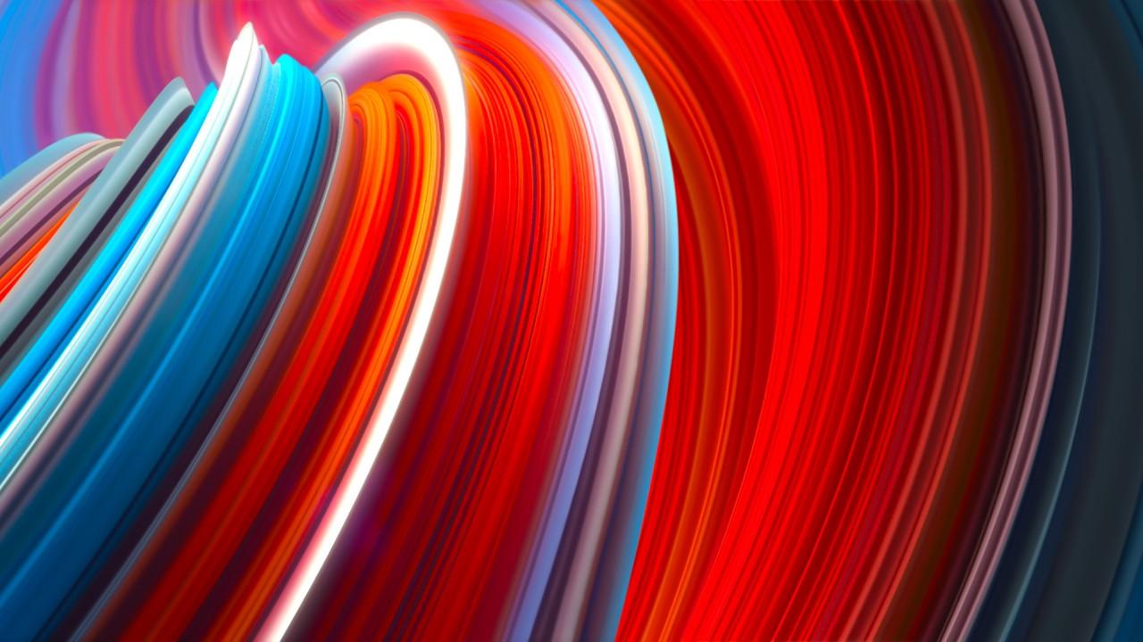 Xiaomi Wallpaper: Wallpaper Xiaomi Mi Mix 3, Abstract, Colorful, OS #20775
