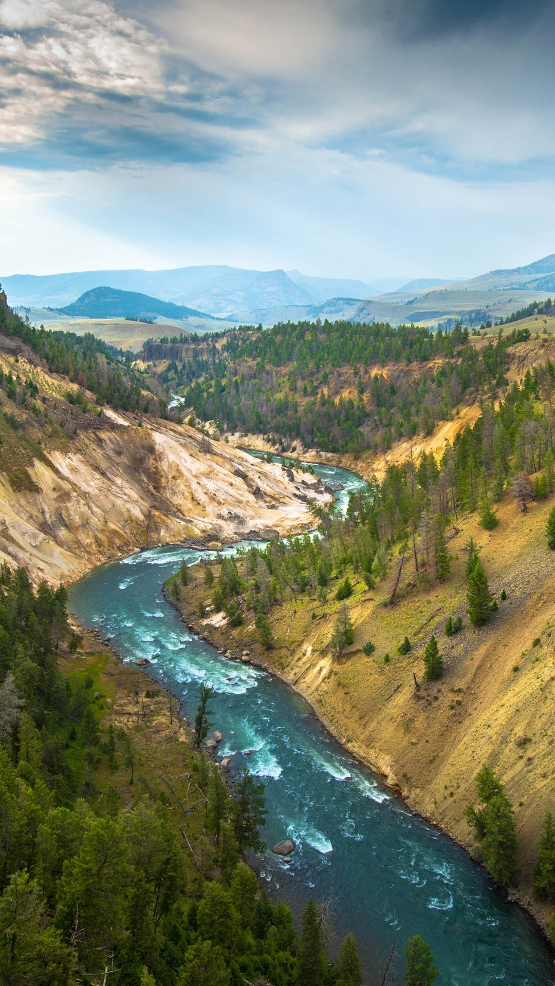 Diamond White Usa >> Wallpaper Yellowstone Landscape, 4k, 5k wallpaper, USA ...