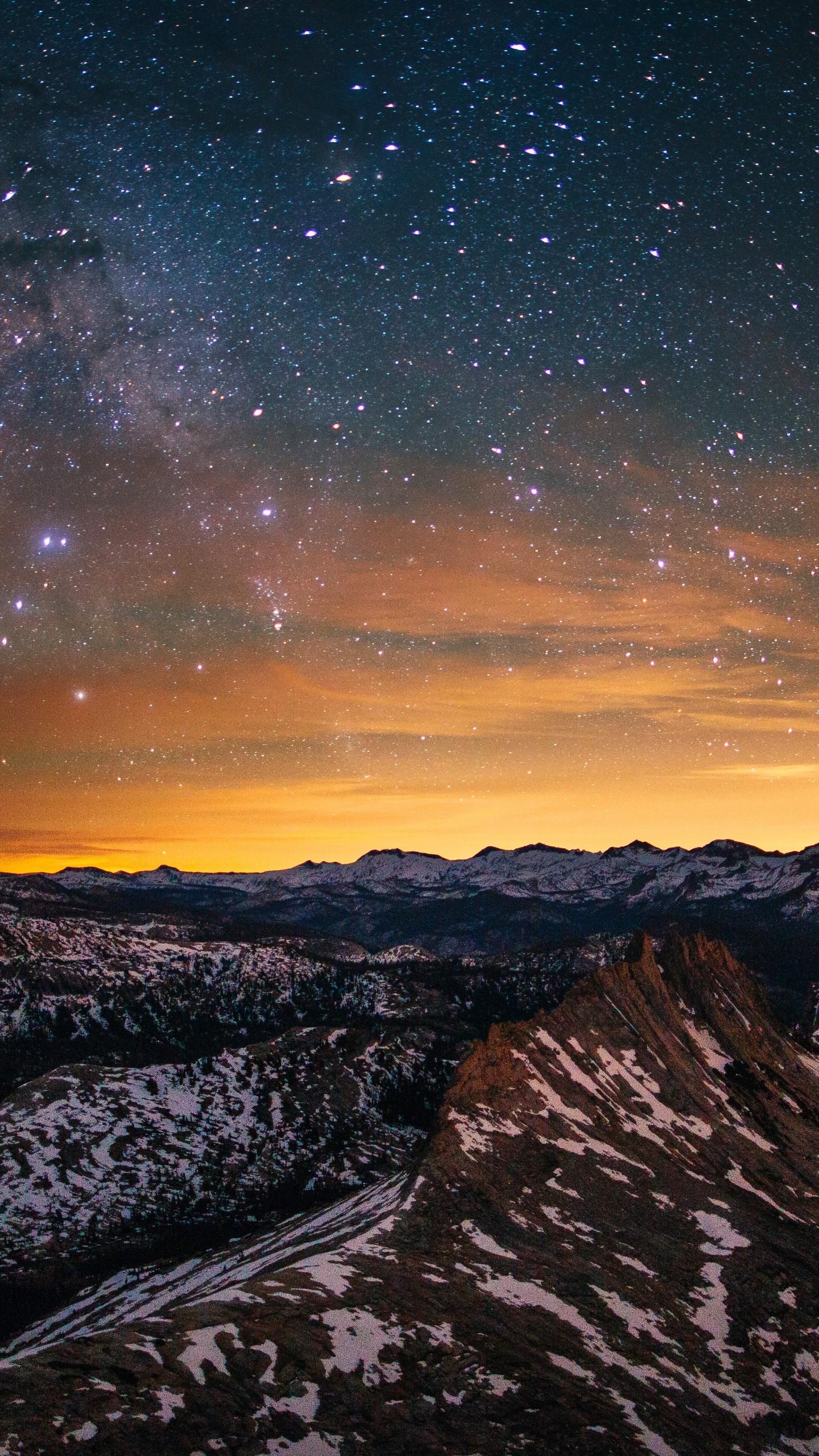 Wallpaper Yosemite, 5k, 4k Wallpaper, 8k, Forest, Stars